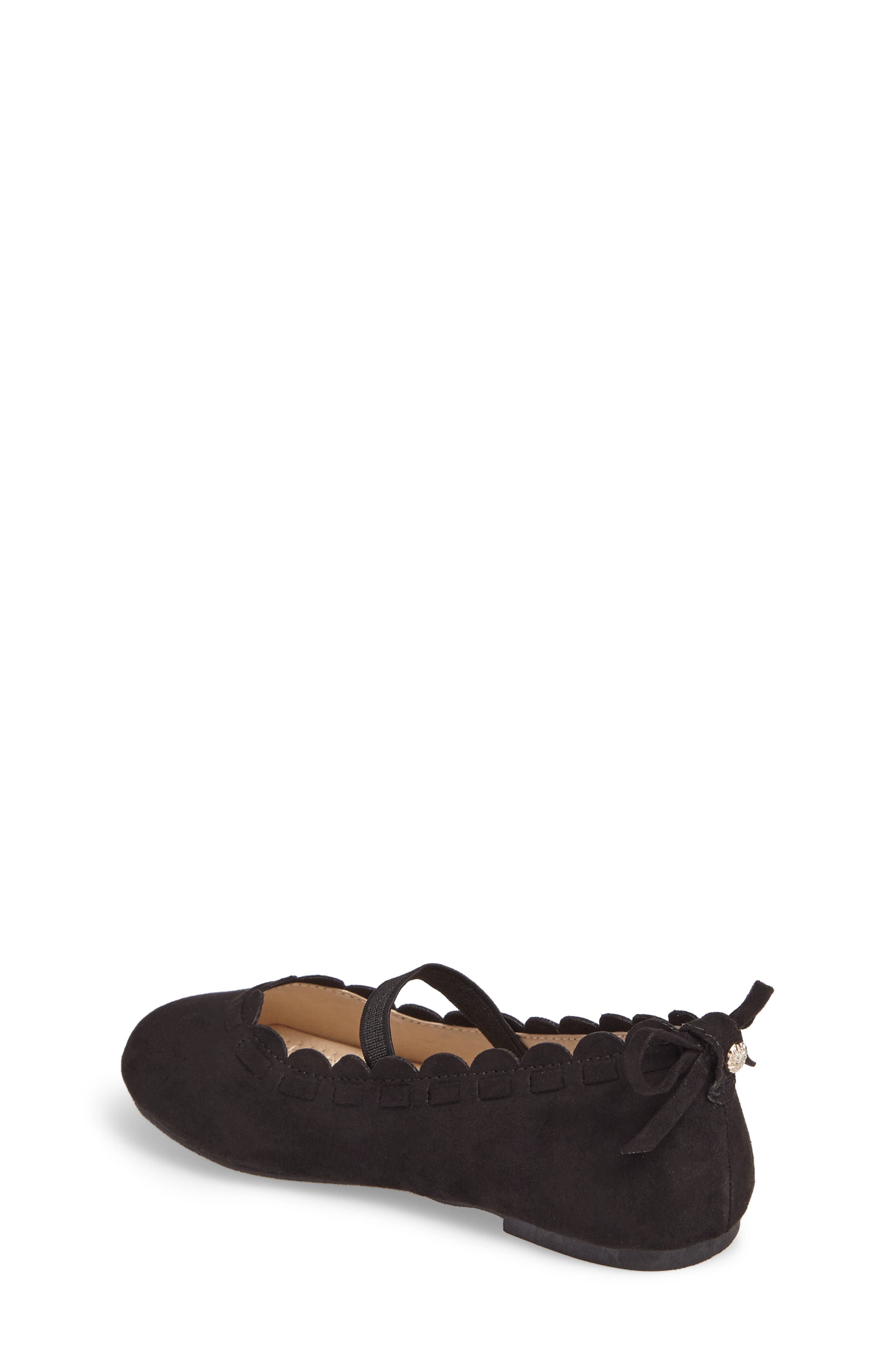 Little Miss Lucie Scalloped Mary Jane Flat,                             Alternate thumbnail 2, color,                             001
