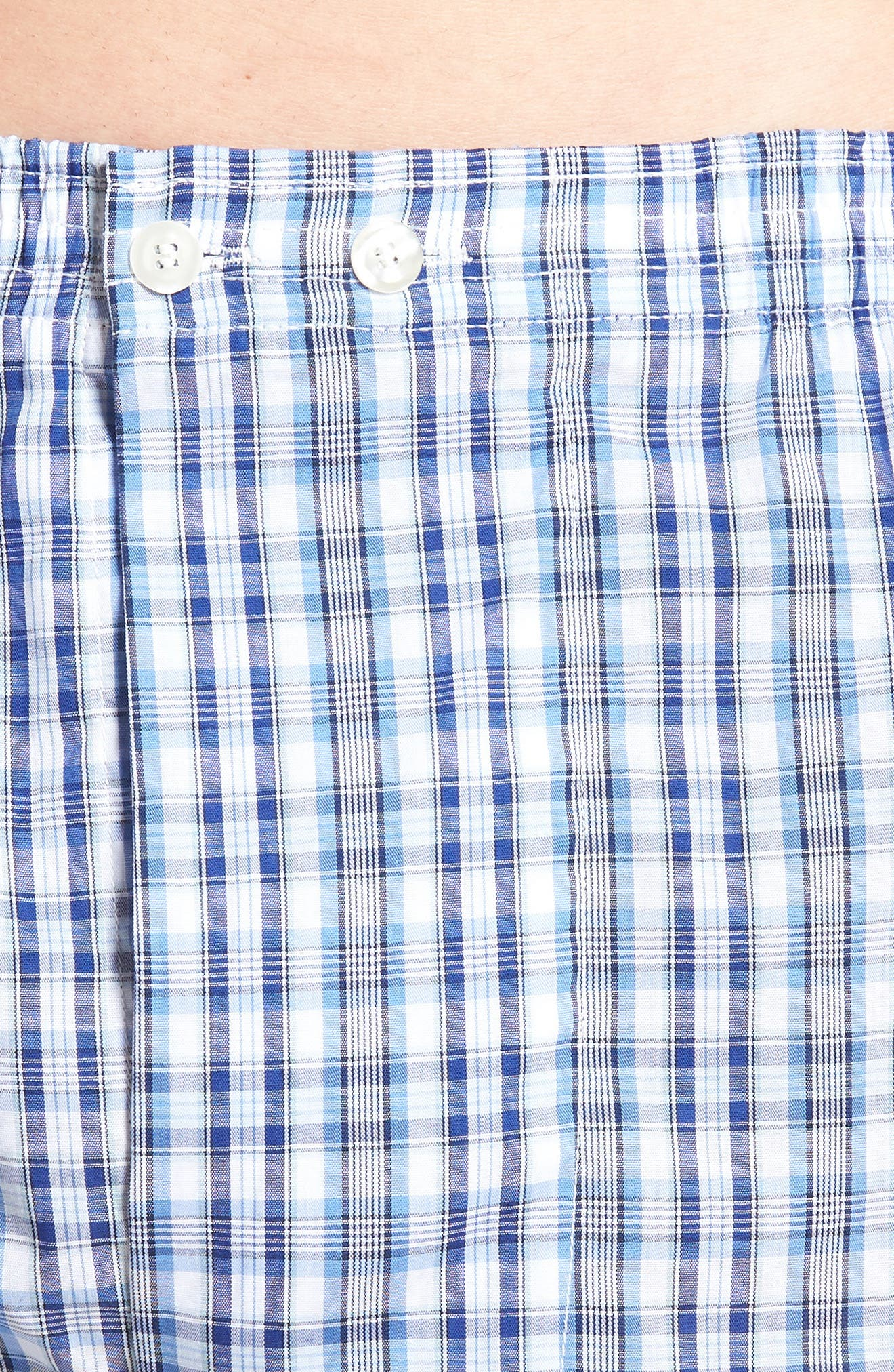 3-Pack Classic Fit Boxers,                             Alternate thumbnail 5, color,                             BLUE DAZZLE SOLID- PLAID PACK