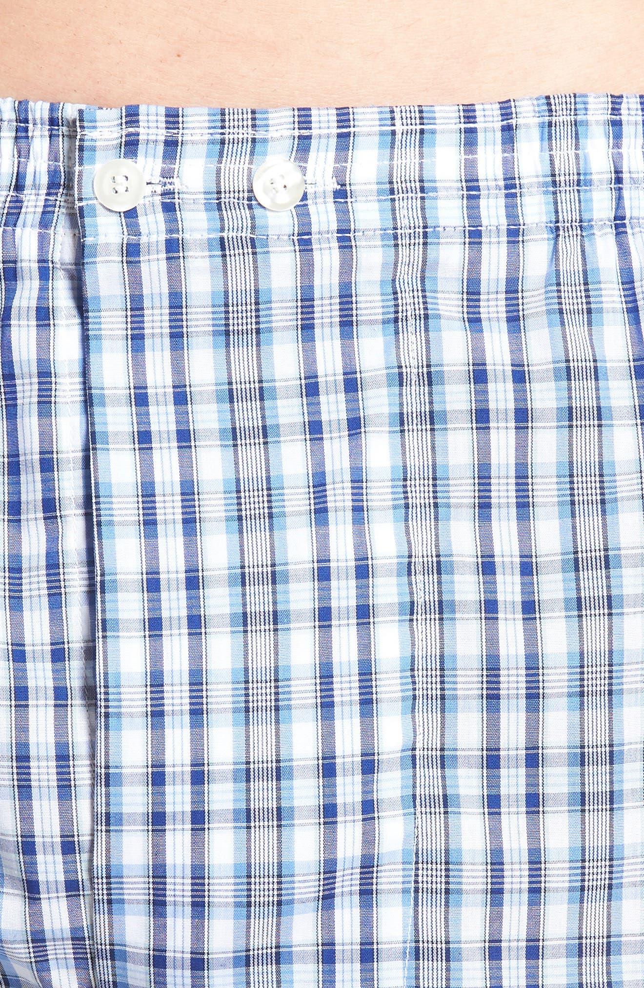 3-Pack Classic Fit Boxers,                             Alternate thumbnail 5, color,                             BLUE DAZZLE SOLID- PLAID PACK