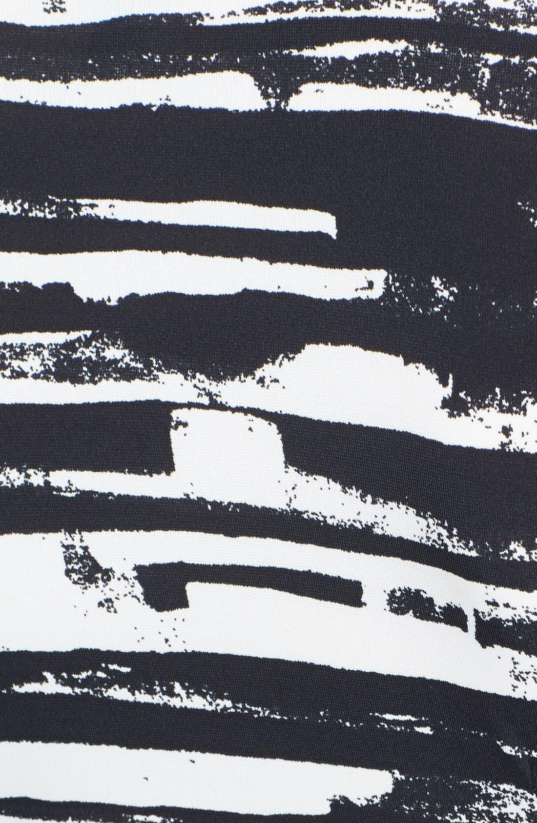 'Adele' Print Matte Jersey Wrap Dress,                             Alternate thumbnail 4, color,                             003