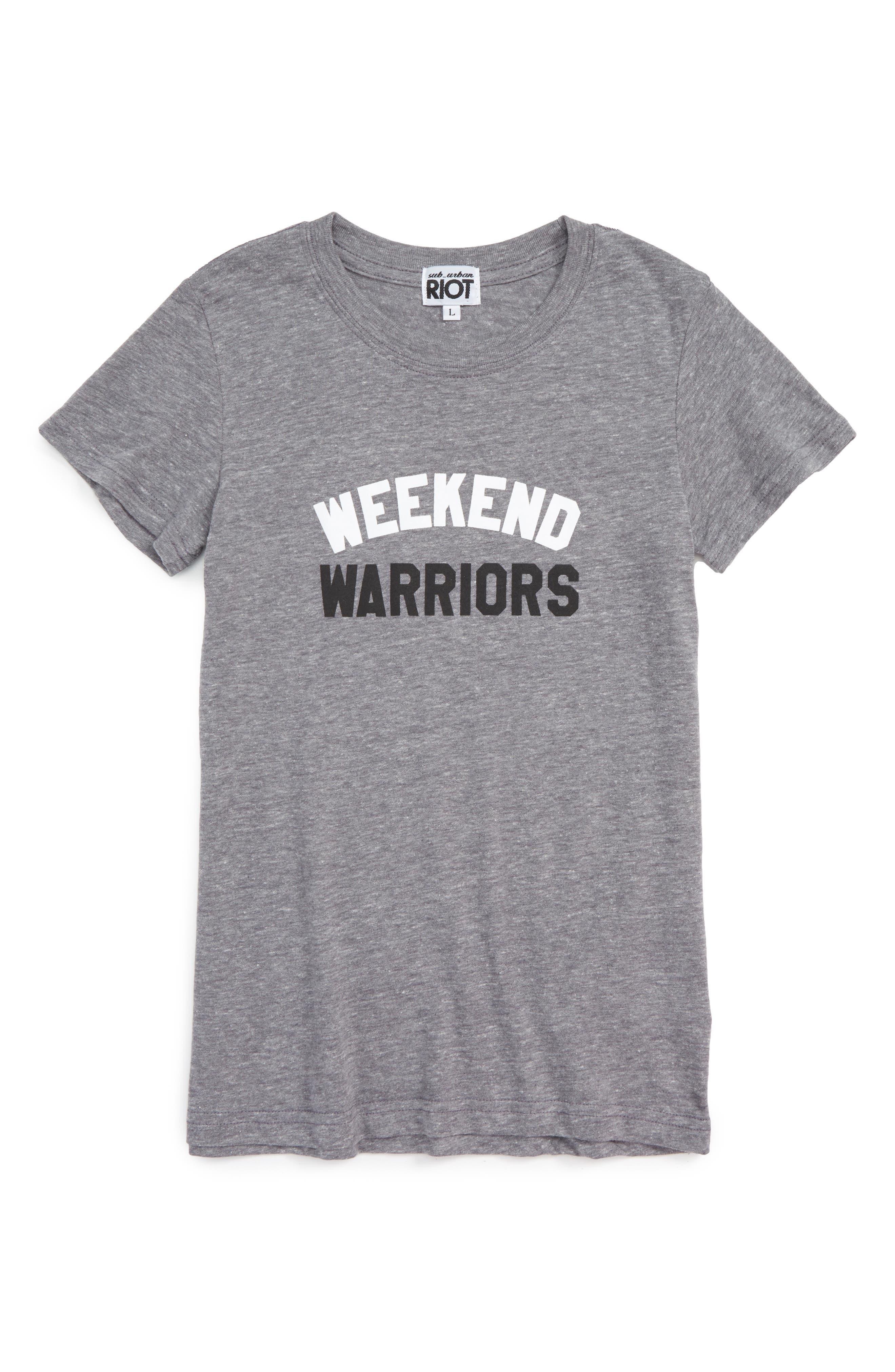 Weekend Warriors Tee,                             Main thumbnail 2, color,