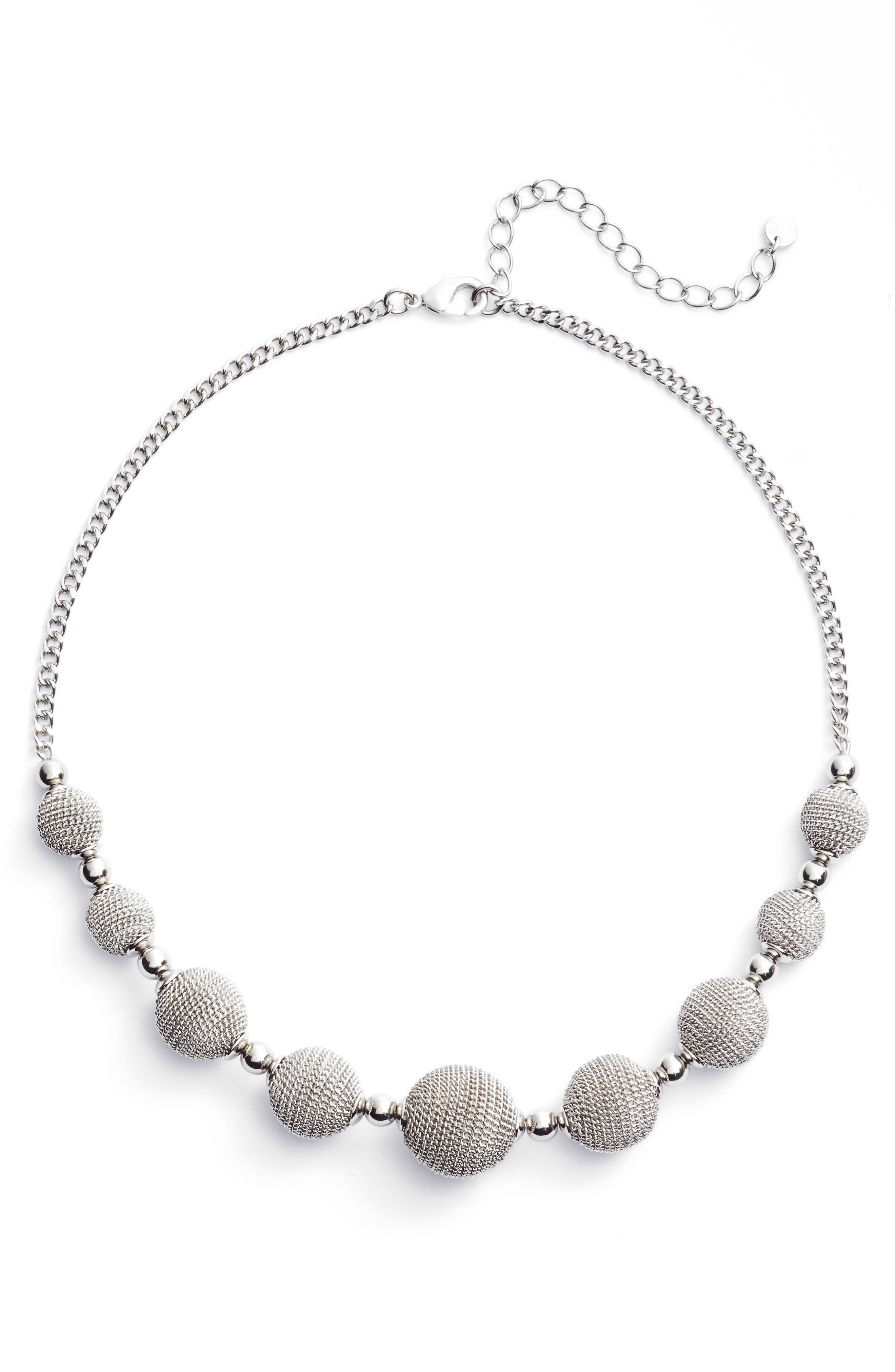 Textured Charm Collar Necklace,                         Main,                         color, 040