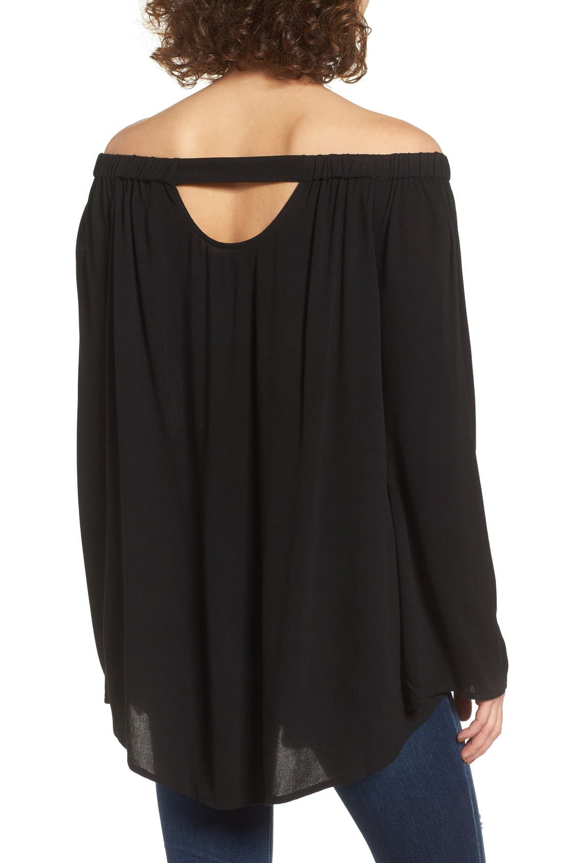 Off the Shoulder Tunic,                             Alternate thumbnail 3, color,                             001