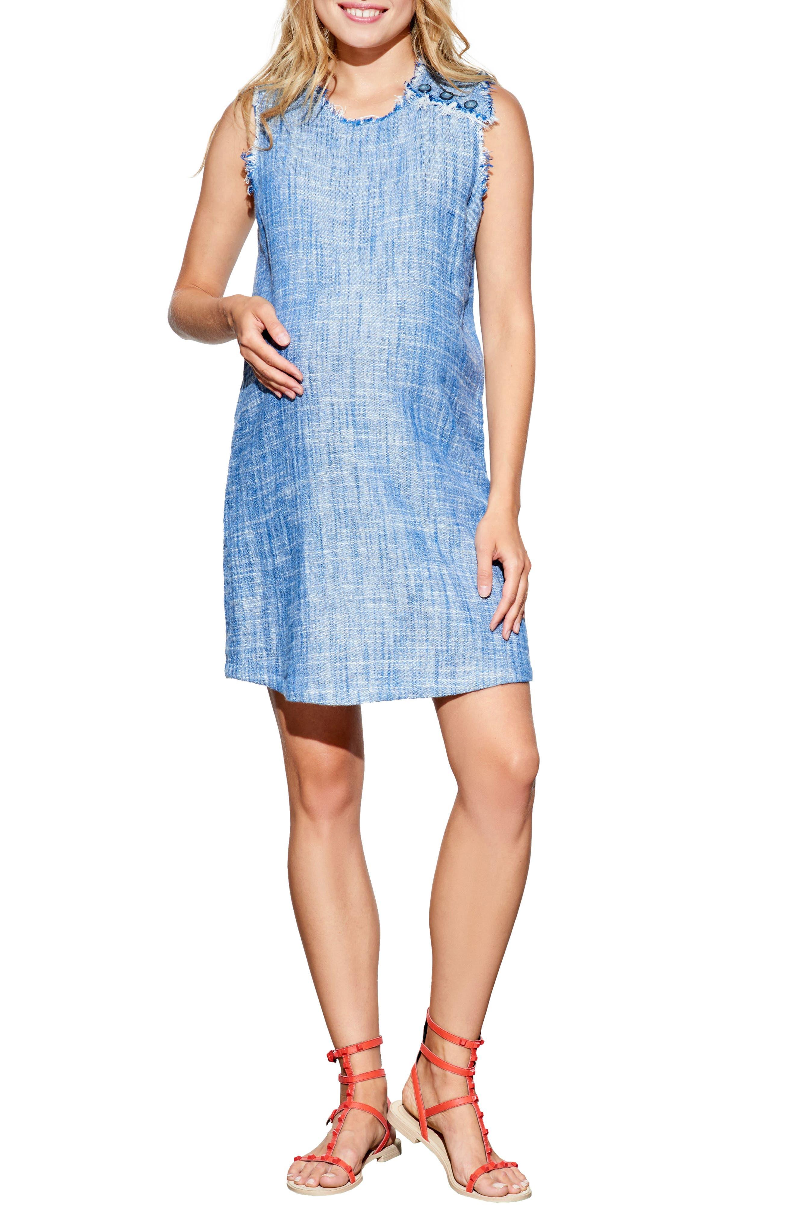 Sleeveless Maternity Dress,                         Main,                         color, 460