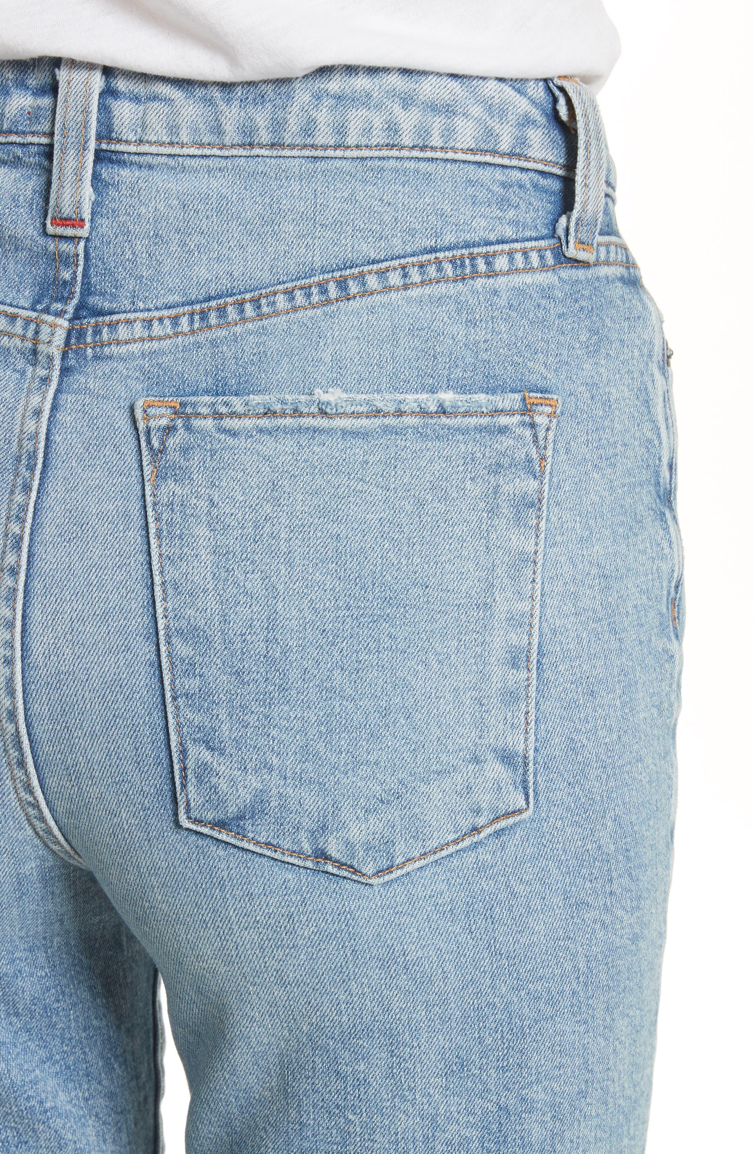 AO.LA Fabulous High Waist Baby Bootcut Jeans,                             Alternate thumbnail 4, color,