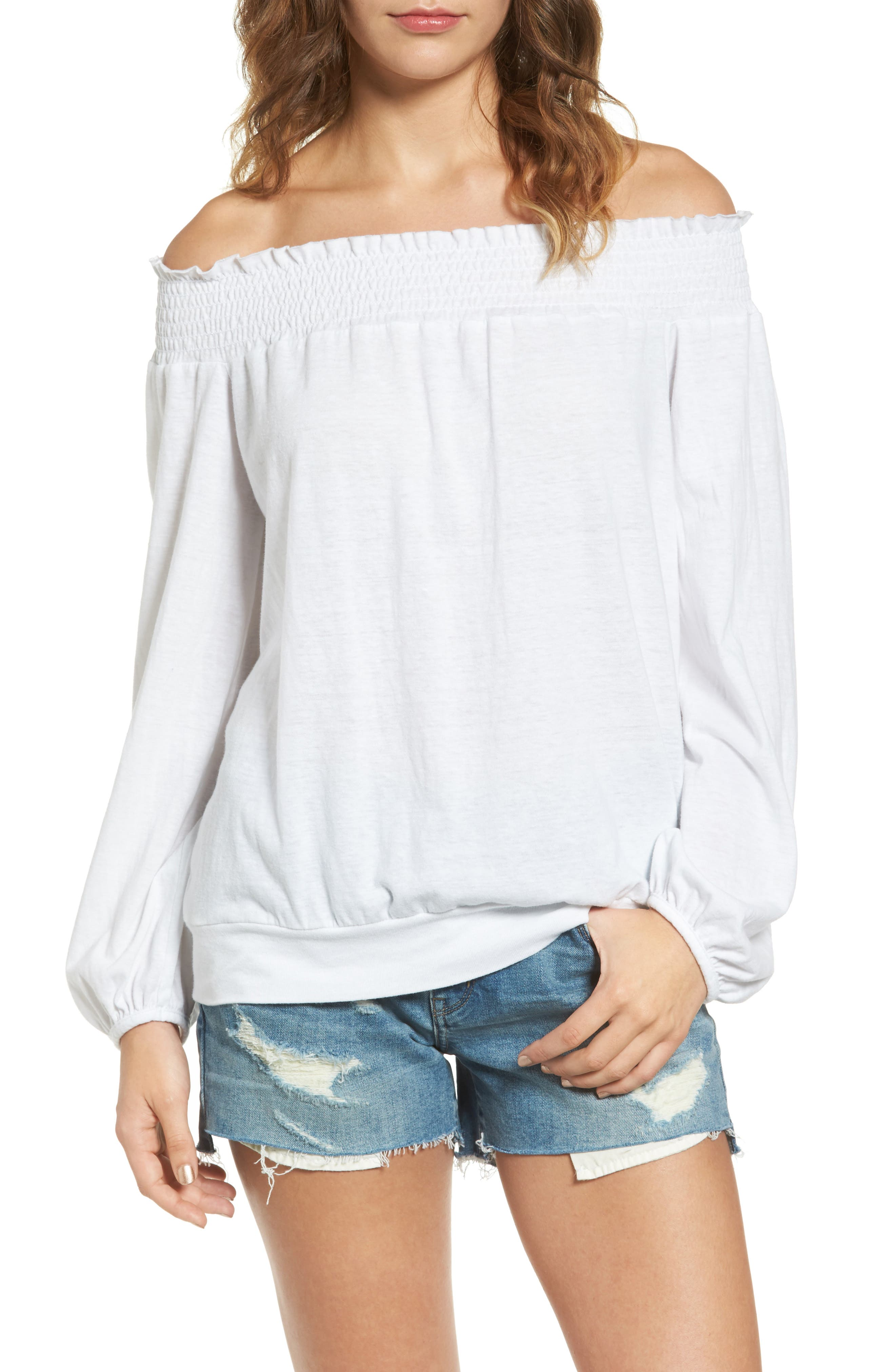 Off the Shoulder Tee,                             Main thumbnail 2, color,