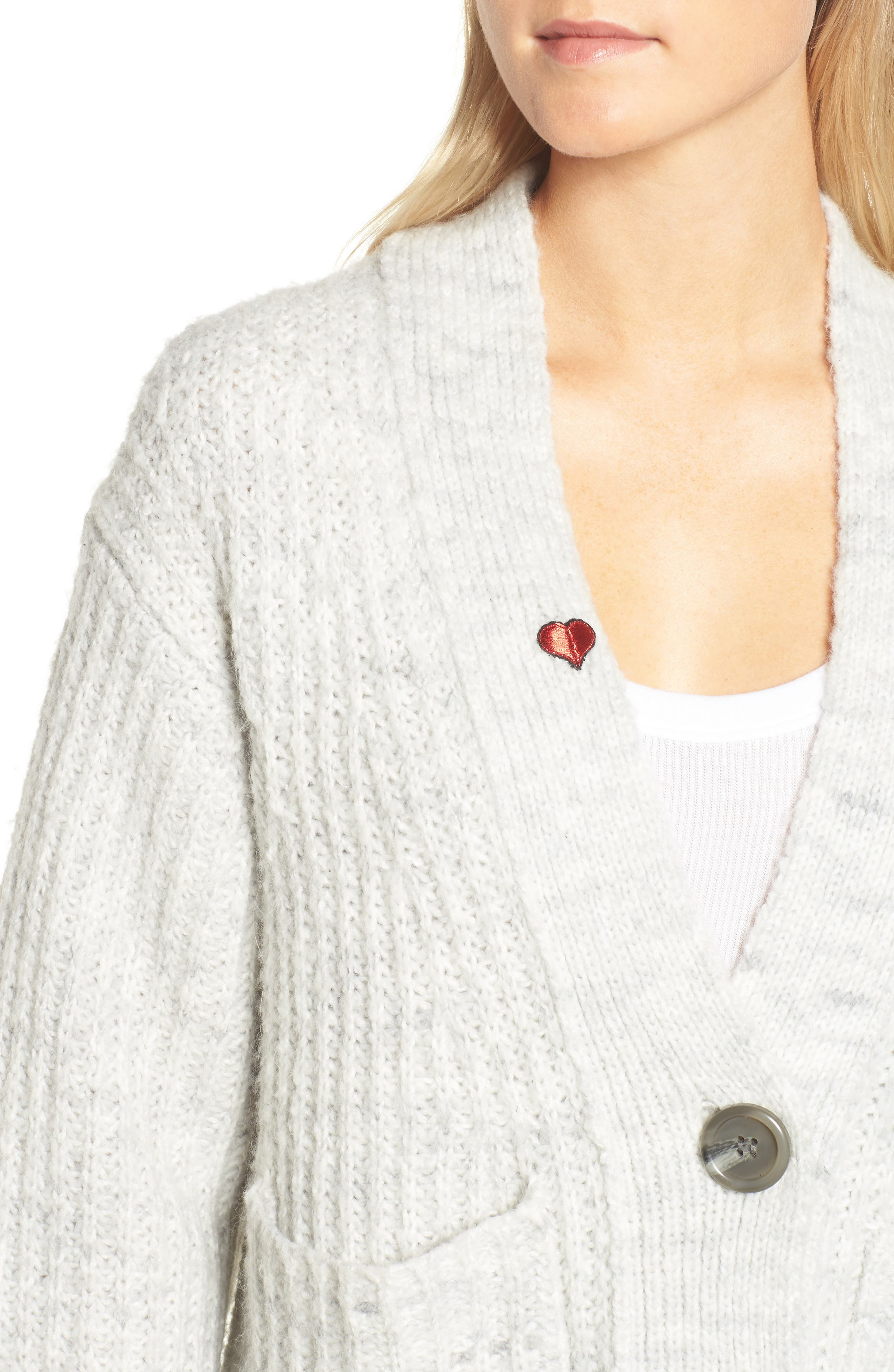 Oversize Cardigan,                             Alternate thumbnail 4, color,                             020