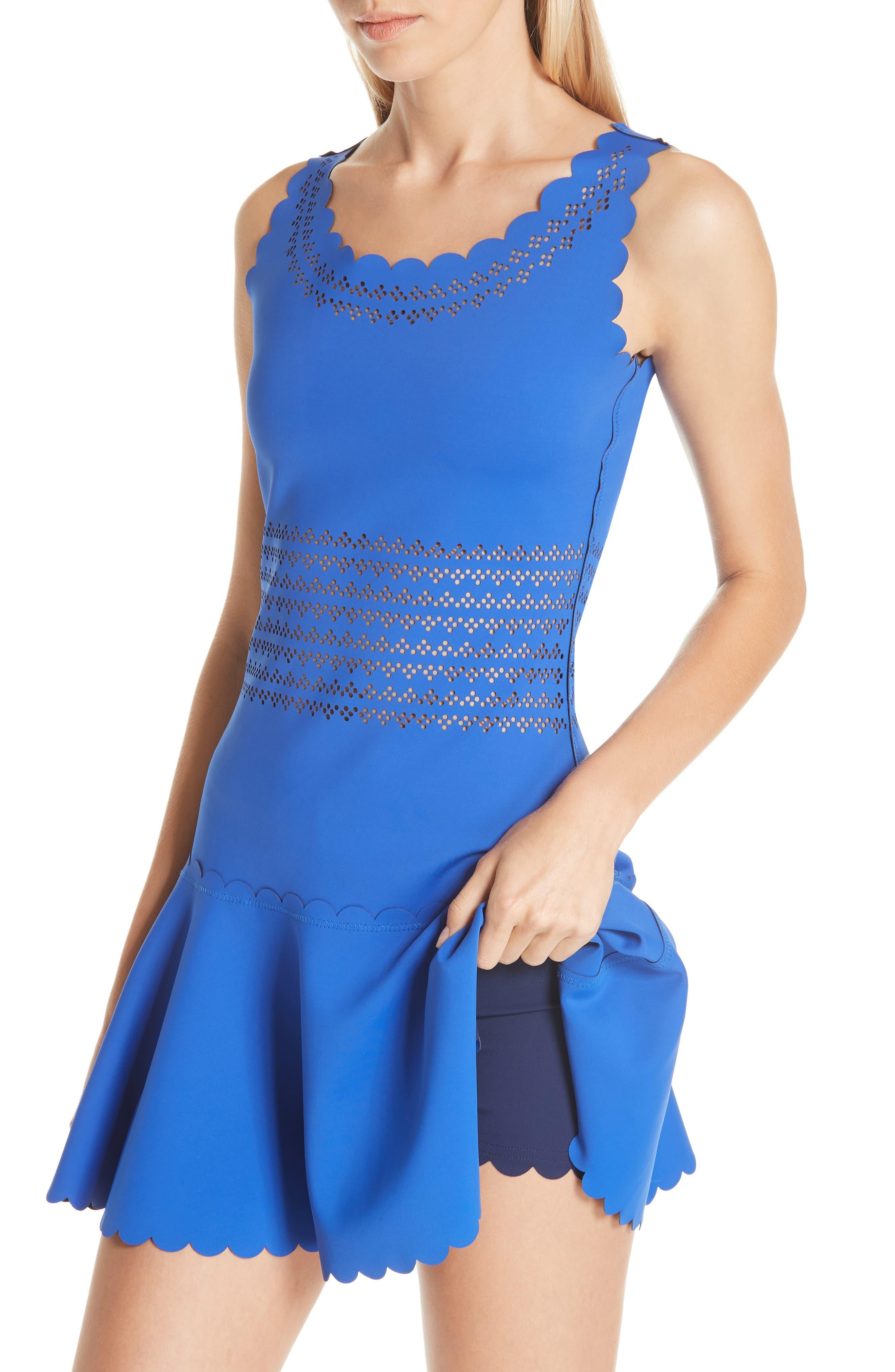 Center Court Tennis Dress,                             Alternate thumbnail 6, color,                             BLUE
