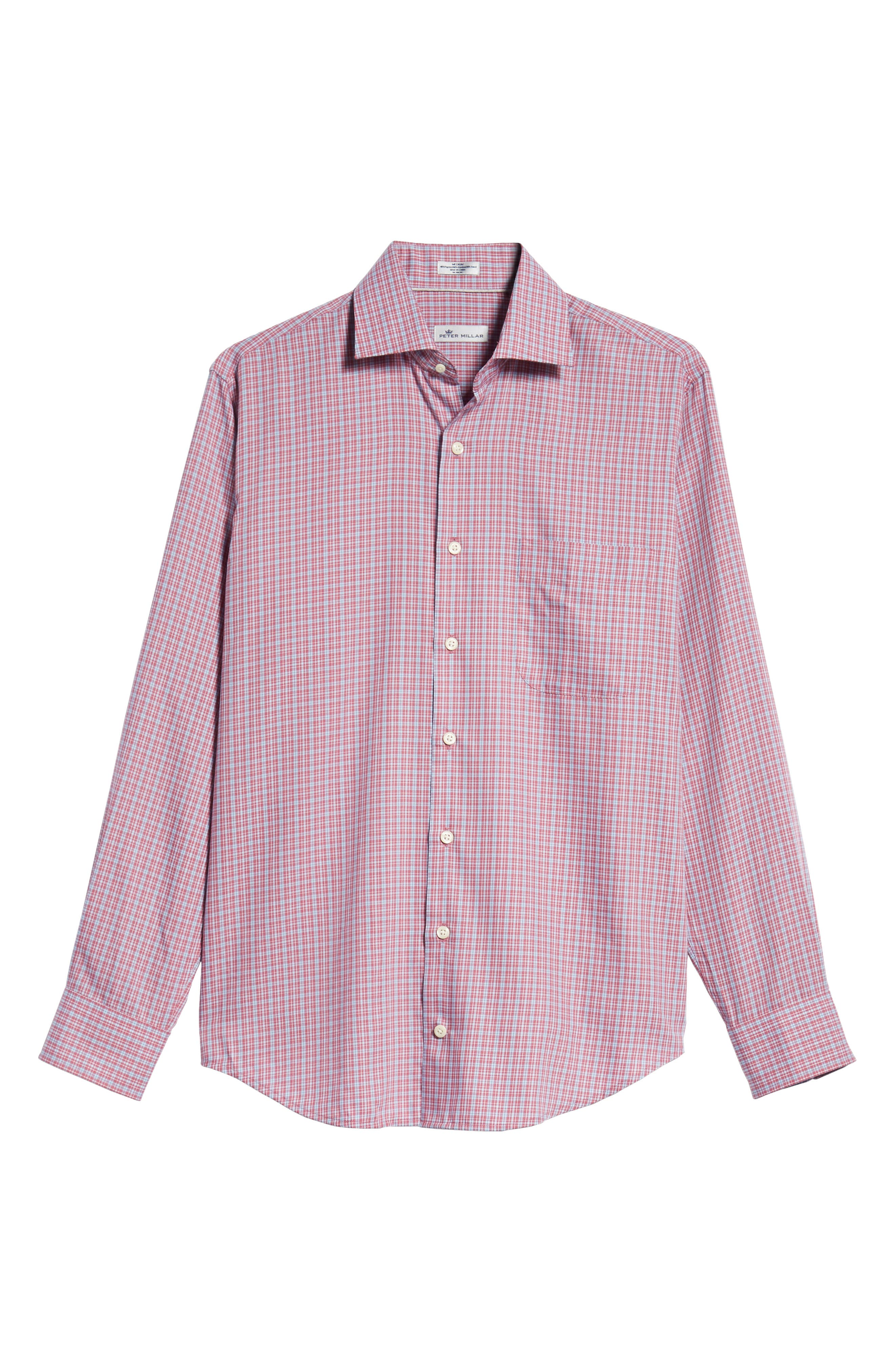 Province Regular Fit Check Sport Shirt,                             Alternate thumbnail 5, color,                             PINK