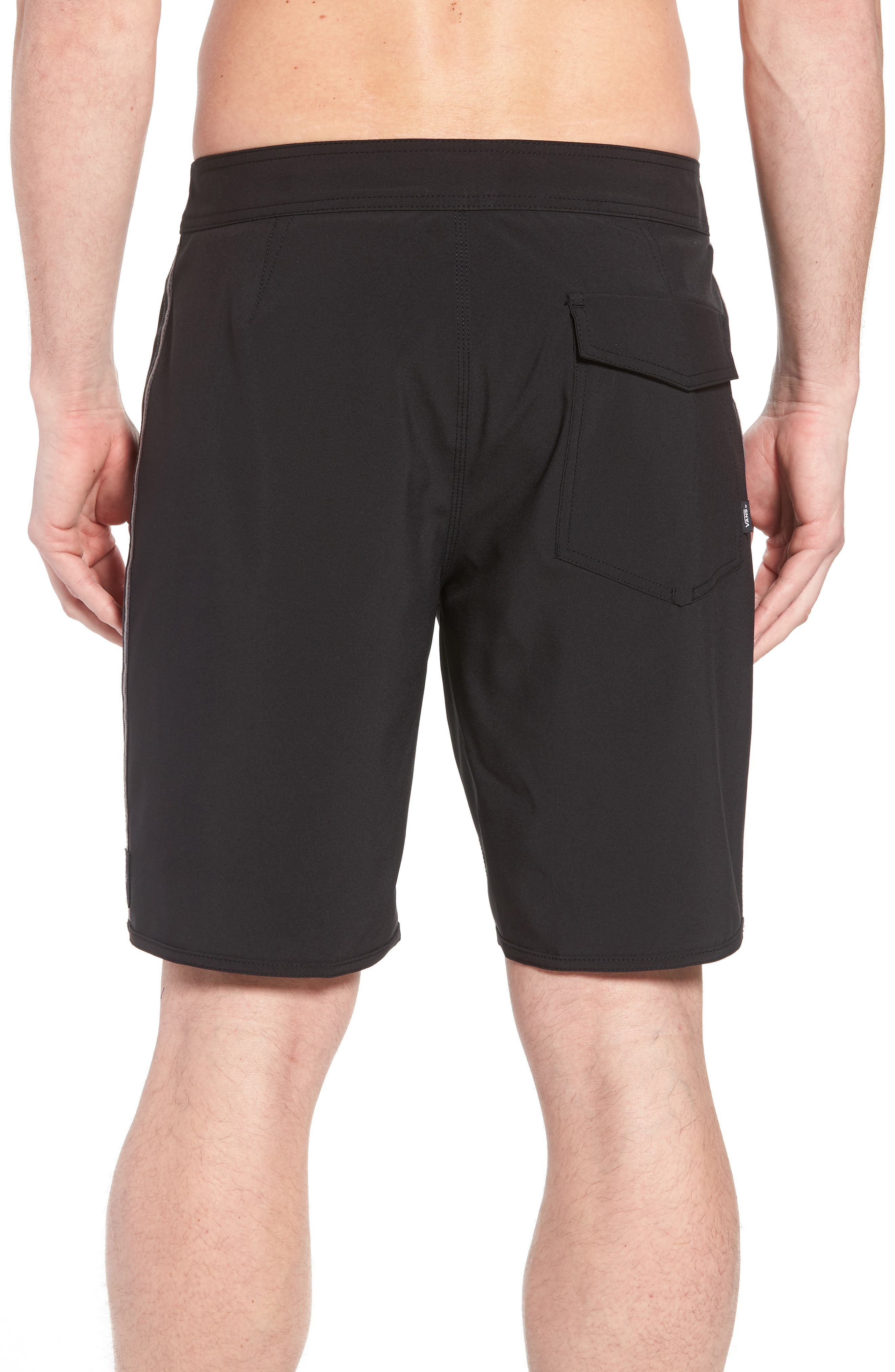 Houser Side Stripe Board Shorts,                             Alternate thumbnail 2, color,                             001