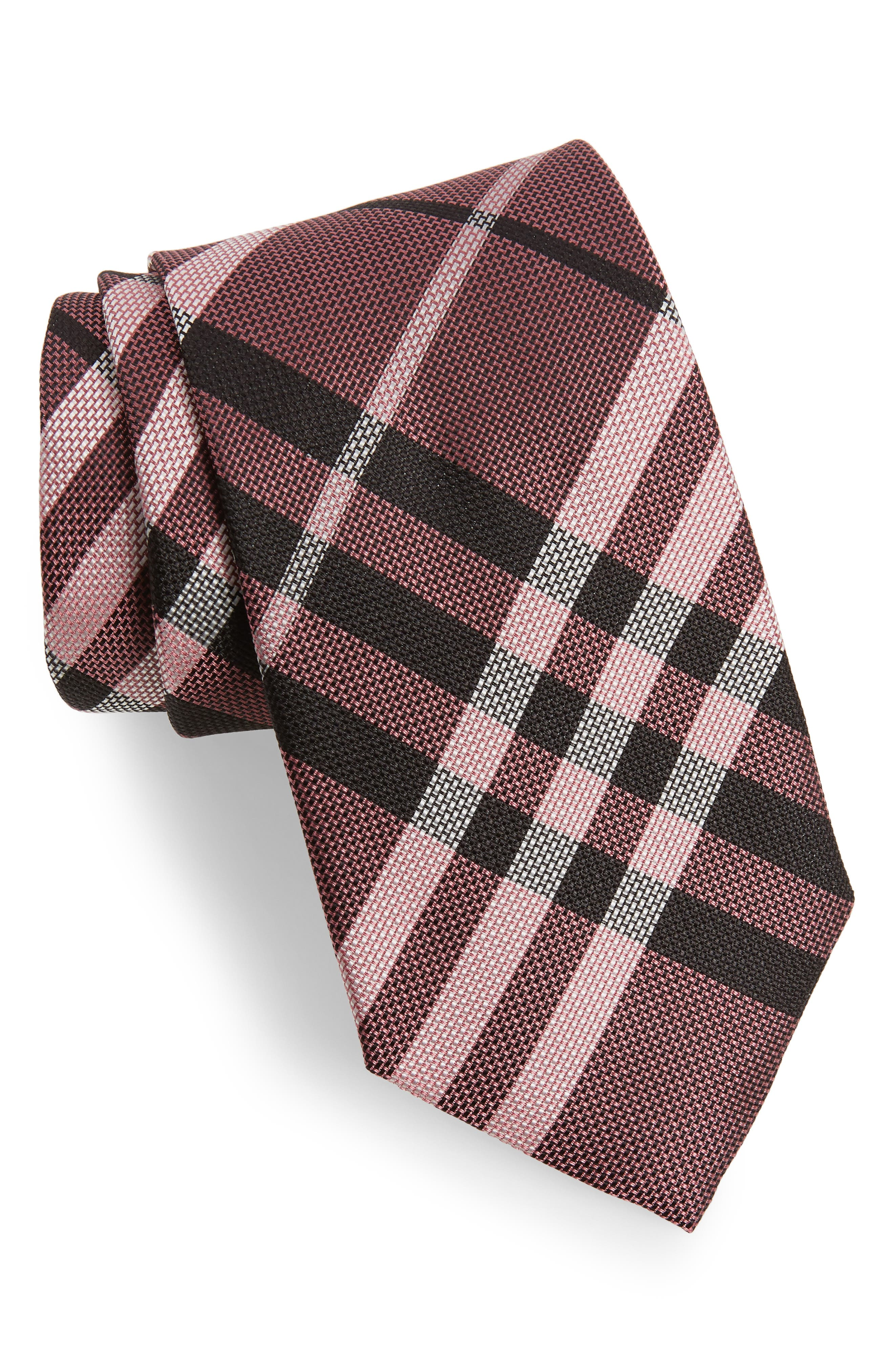 Check Silk Tie,                             Main thumbnail 4, color,