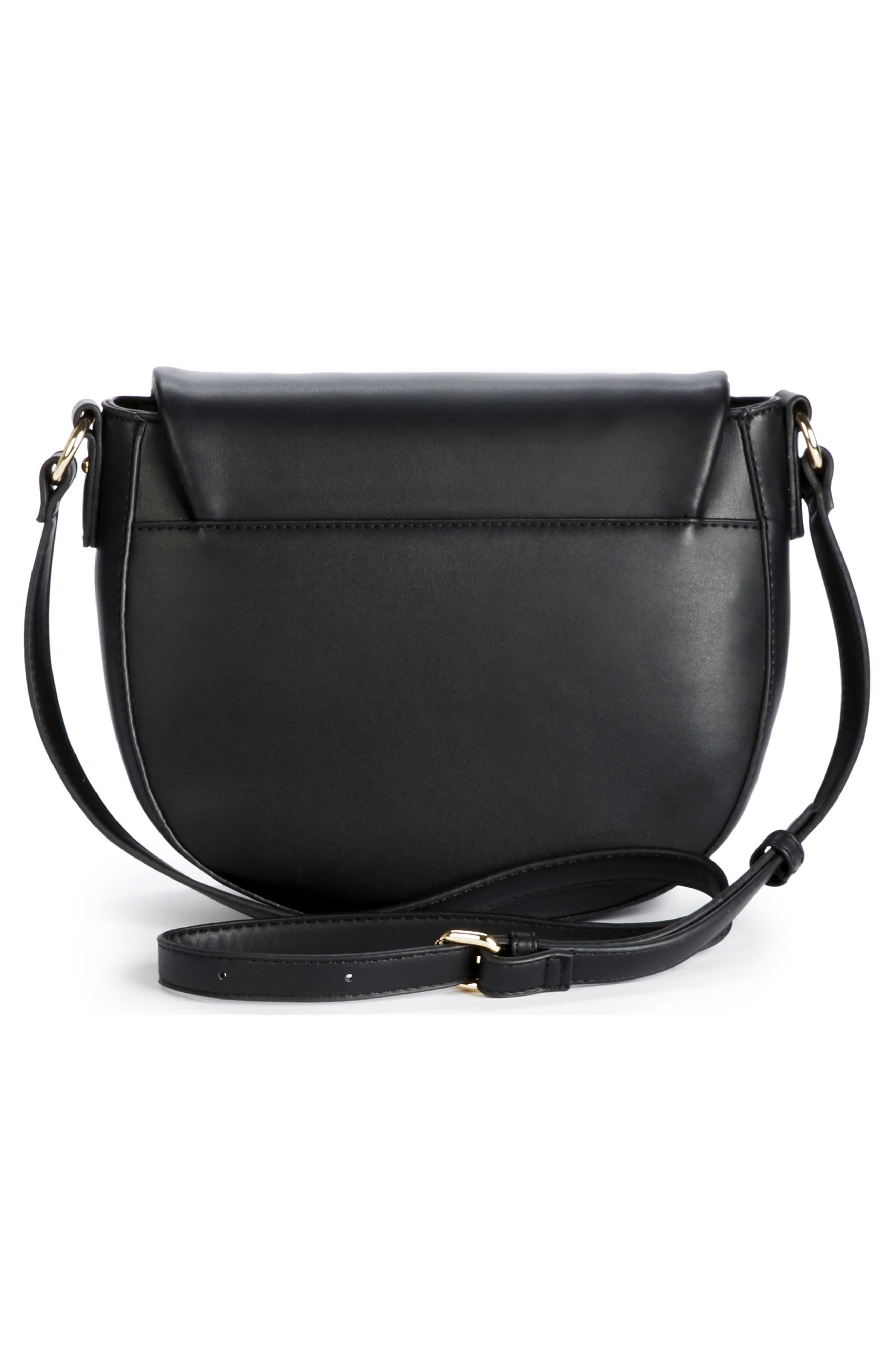 Adden Faux Leather Crossbody Bag,                             Alternate thumbnail 3, color,                             001