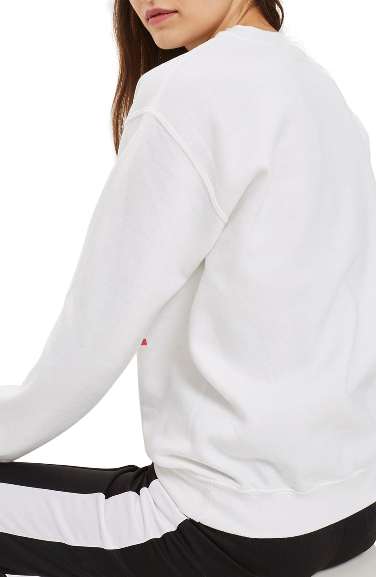 Embroidered Amore Sweatshirt,                             Alternate thumbnail 2, color,                             100