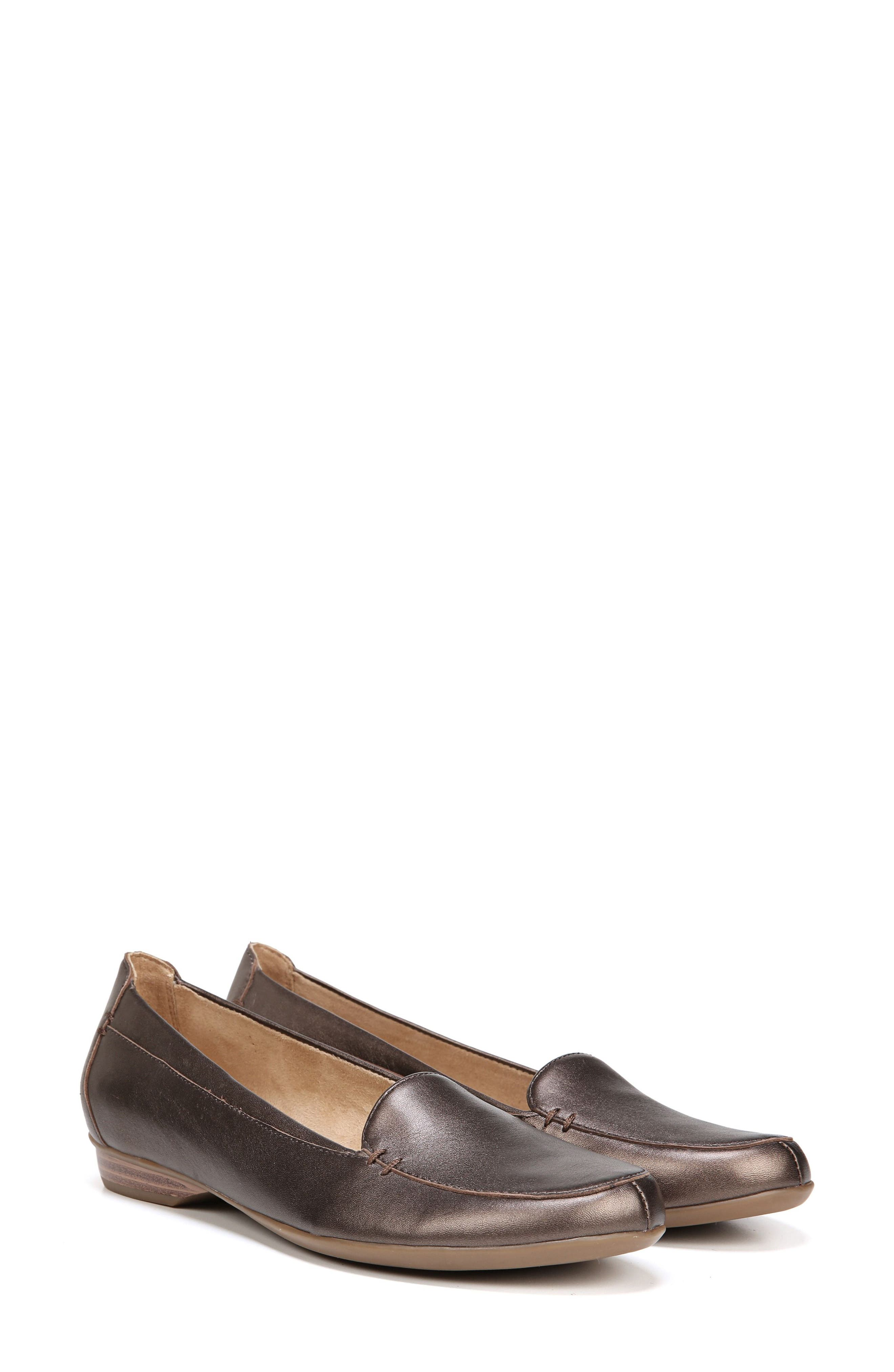 'Saban' Leather Loafer,                             Alternate thumbnail 8, color,                             BROWN BRONZE LEATHER