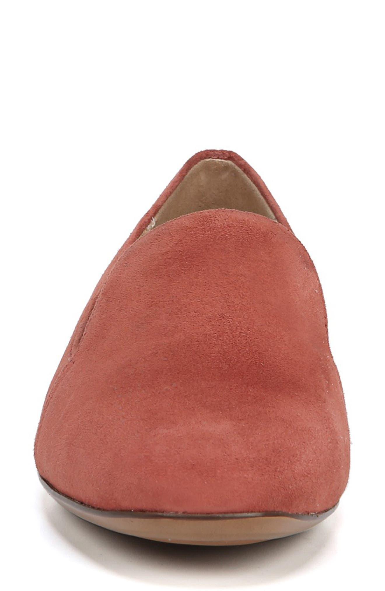 Emiline Flat Loafer,                             Alternate thumbnail 4, color,                             DESERT CLAY SUEDE