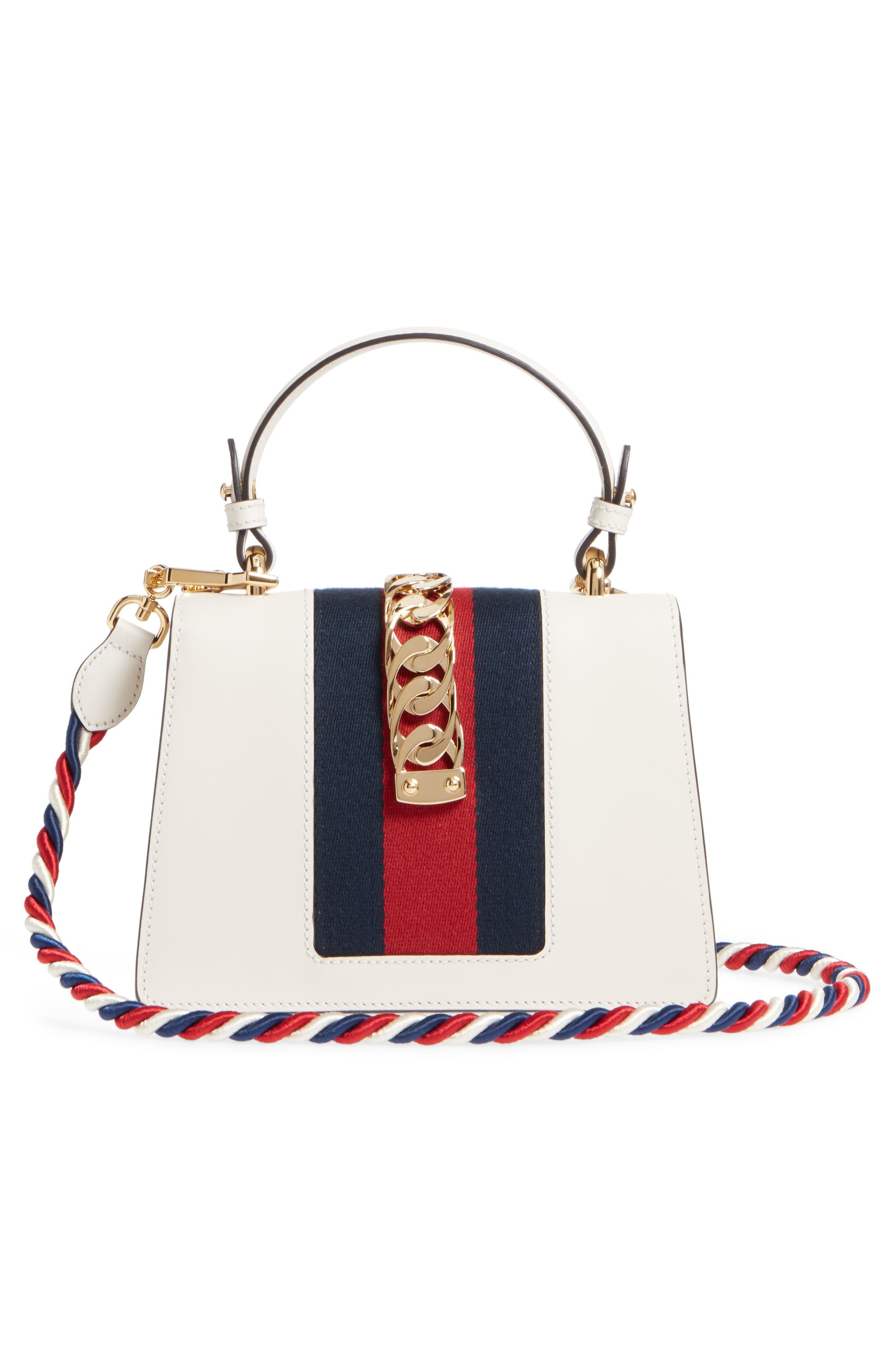 Mini Sylvie Embroidered Floral Leather Shoulder Bag,                             Alternate thumbnail 4, color,                             WHITE MULTI