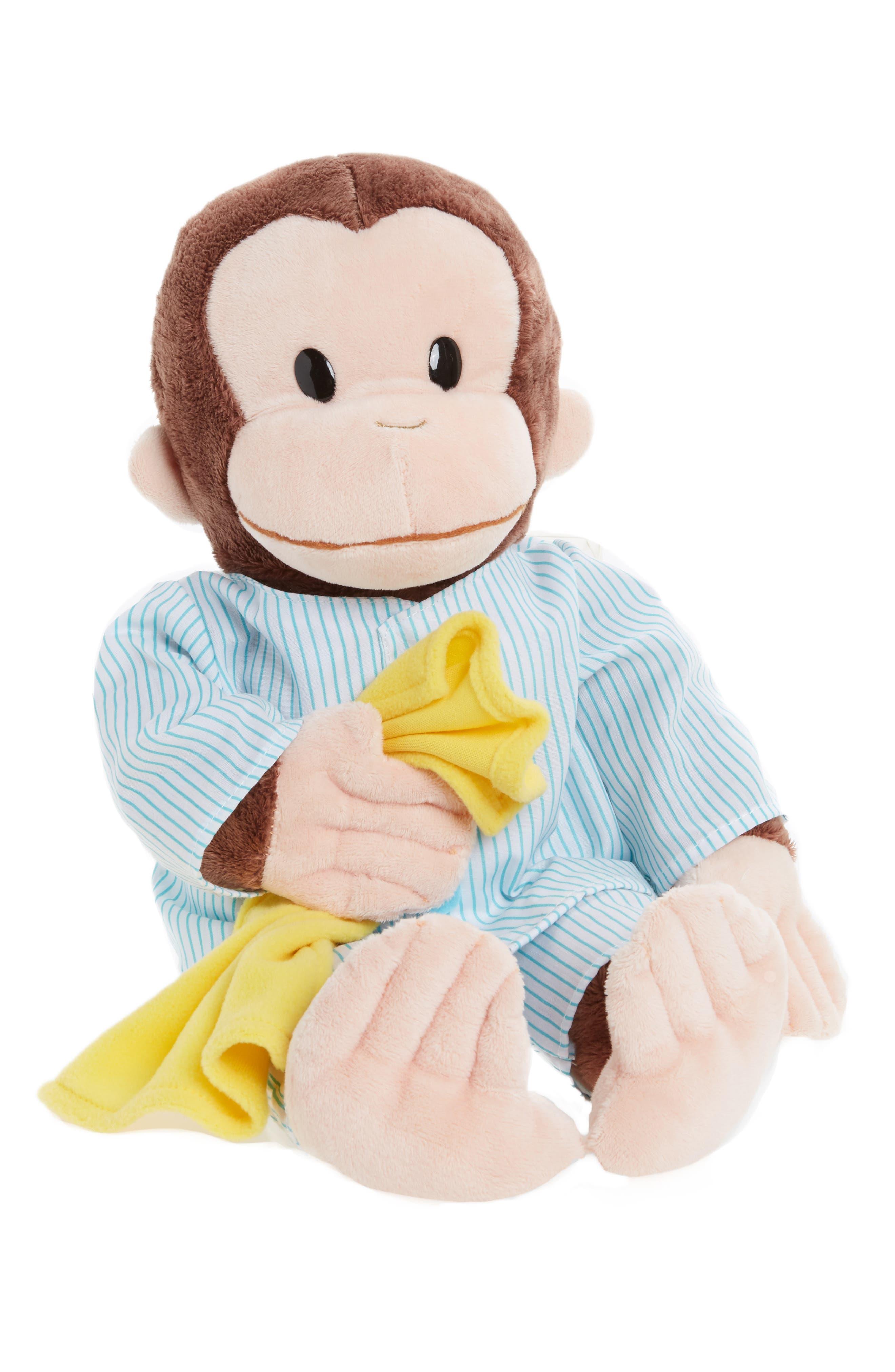 GUND 'Sleepy Curious George<sup>™</sup>' Stuffed Animal, Main, color, 200