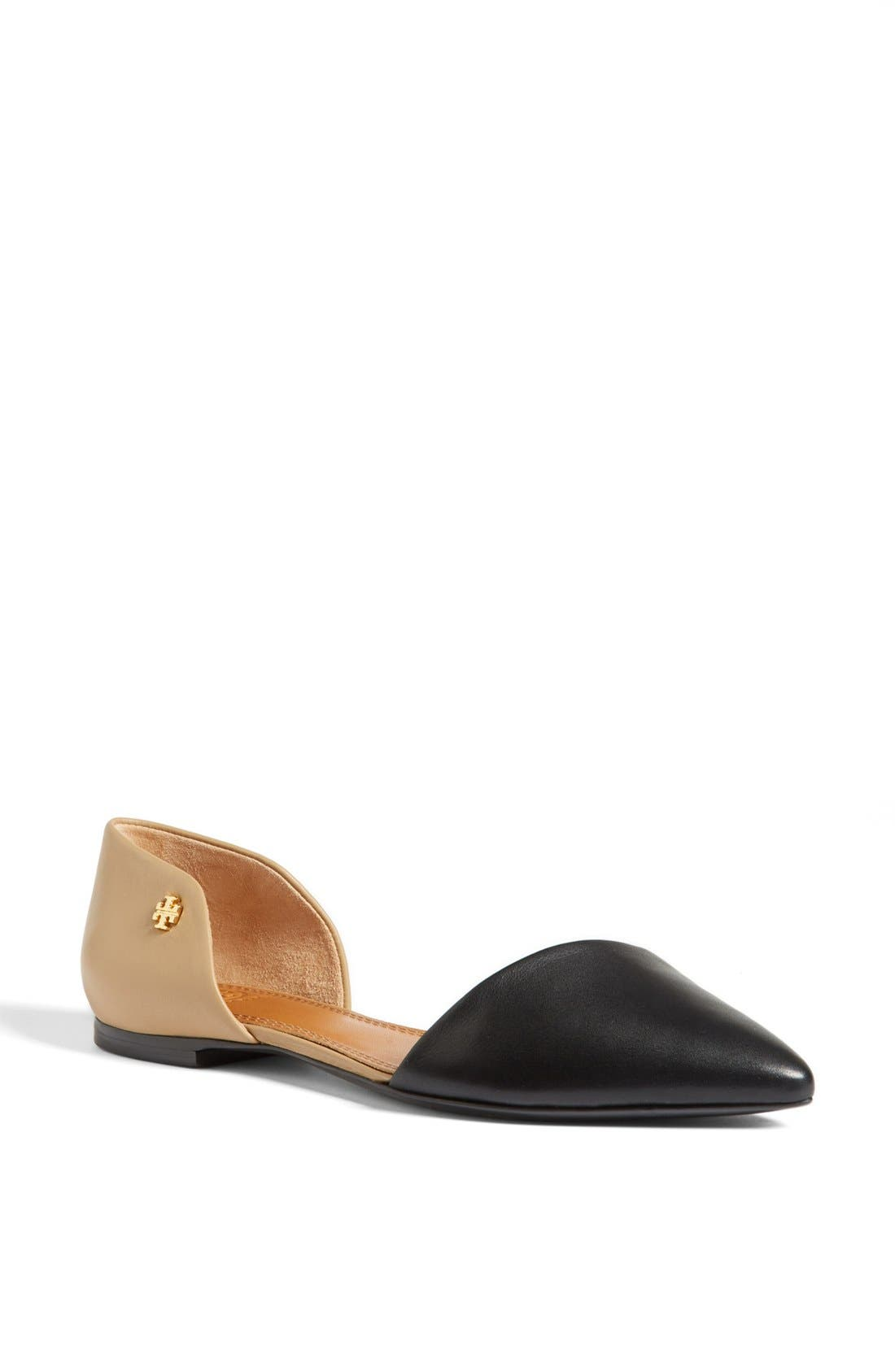 TORY BURCH,                             Leather Flat,                             Main thumbnail 1, color,                             008