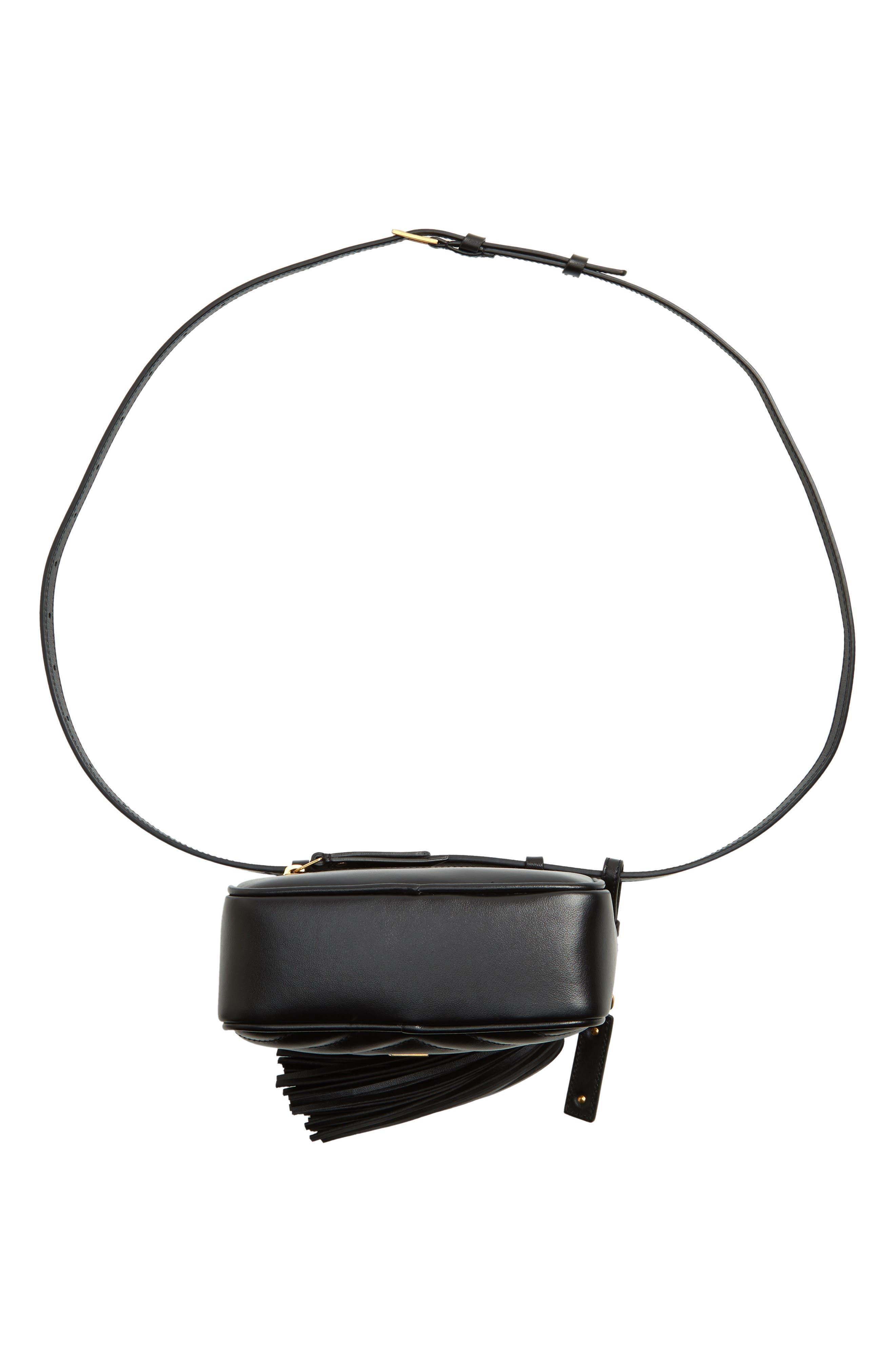 Loulou Matelassé Leather Belt Bag,                             Alternate thumbnail 7, color,                             001