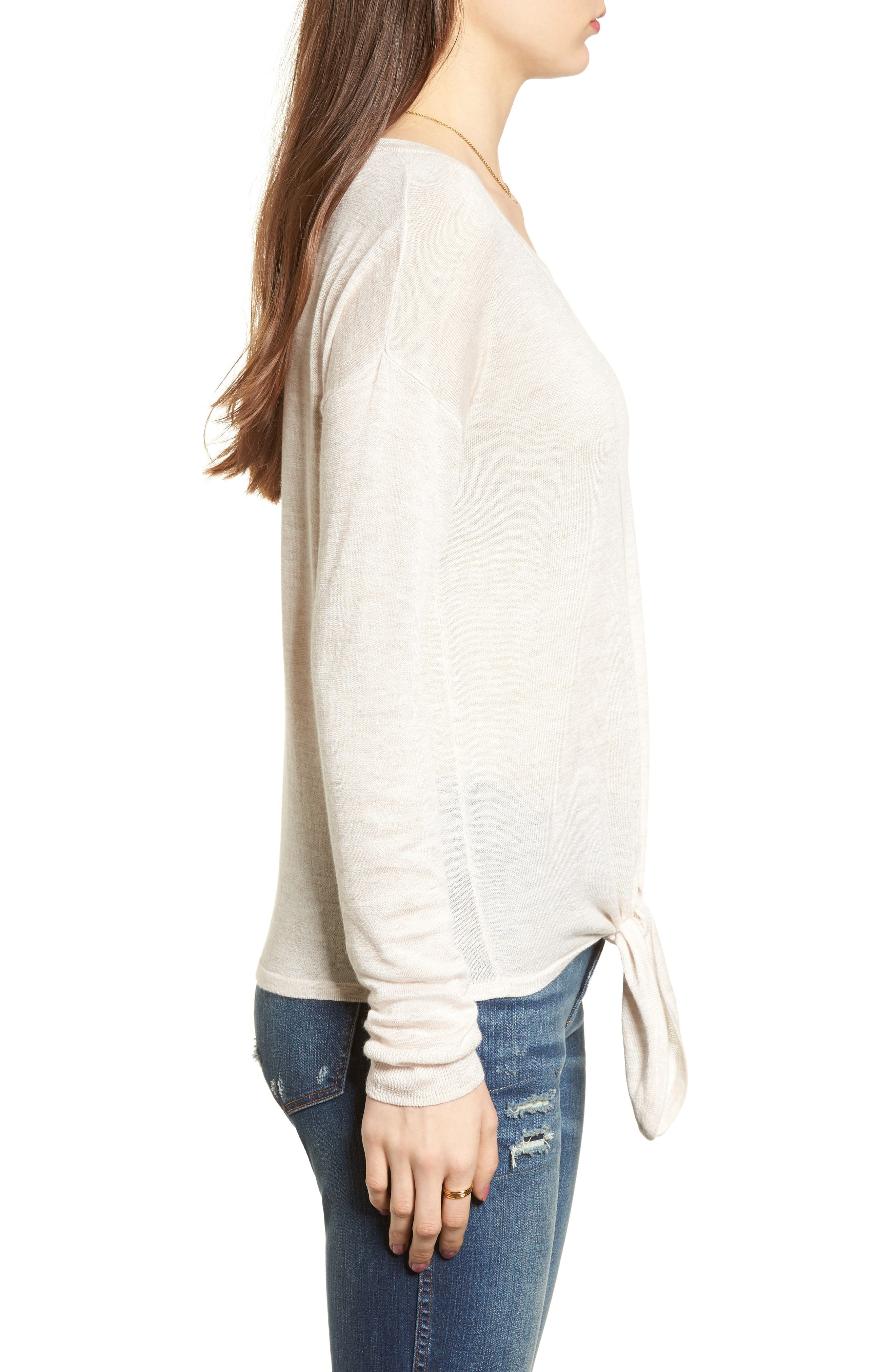 Modern Tie Front Sweater,                             Alternate thumbnail 10, color,