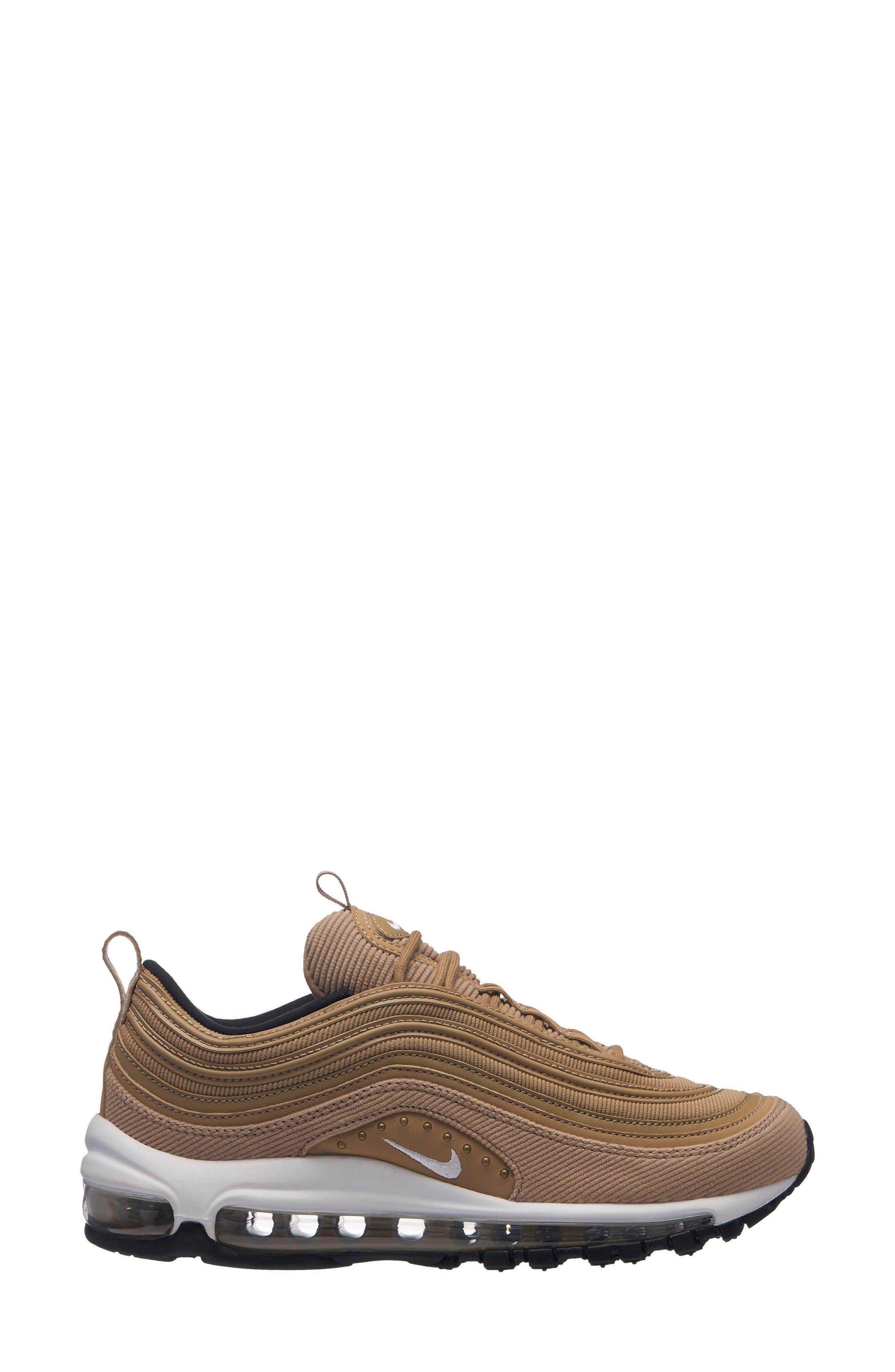 Air Max 97 SE Sneaker,                             Main thumbnail 1, color,                             BEIGE/ WHITE-BLACK
