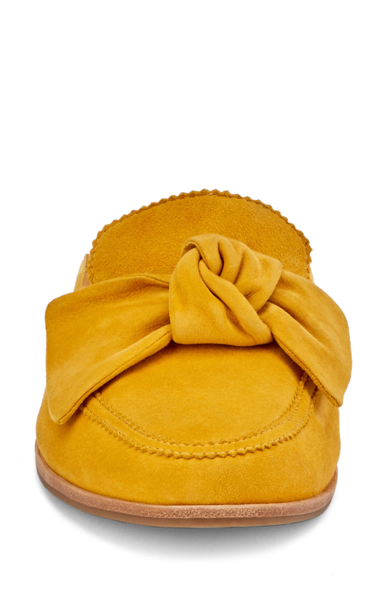 Ebbie Bow Mule,                             Alternate thumbnail 4, color,                             YELLOW SUEDE