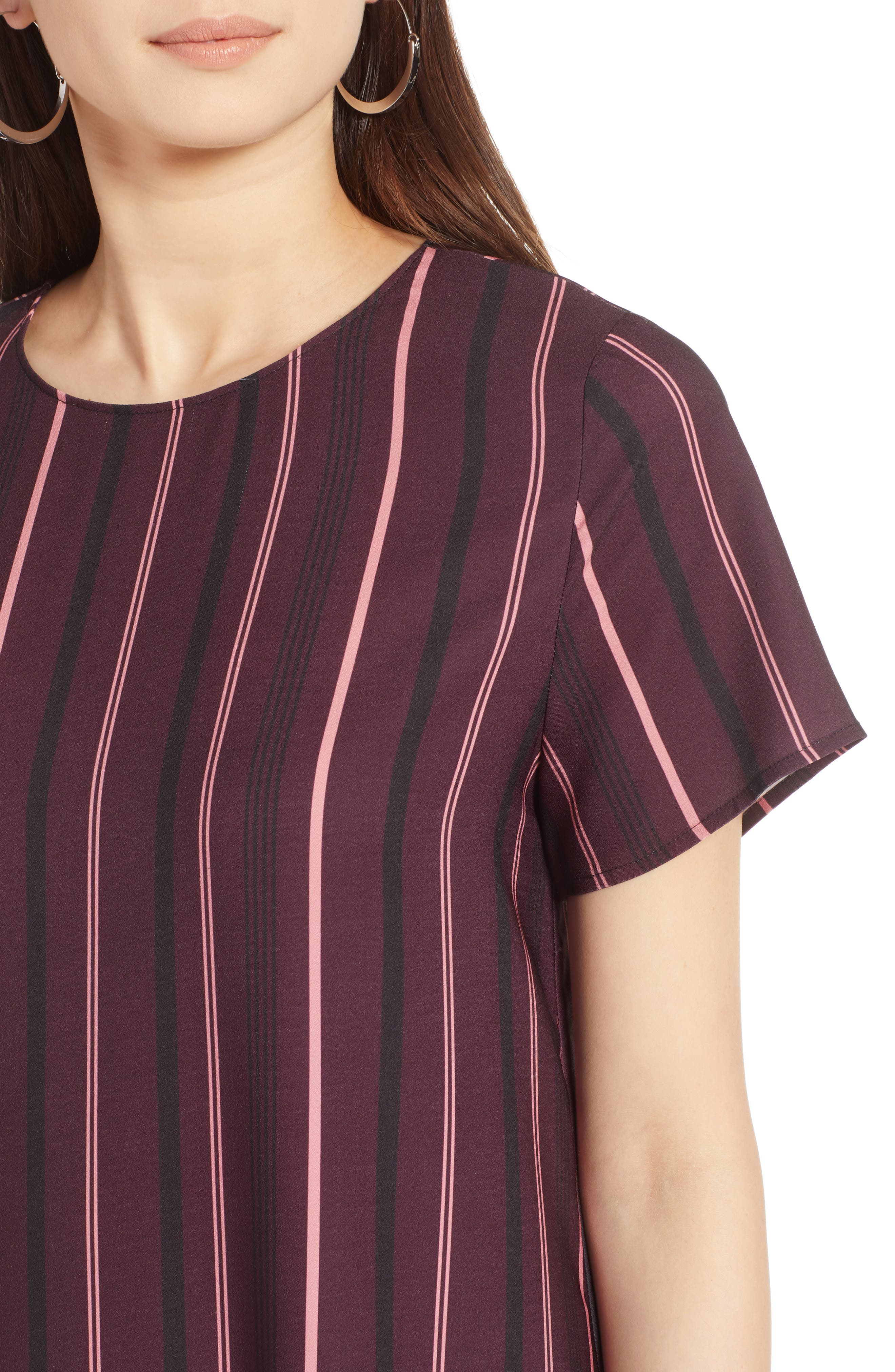 Short Sleeve Ruffle Hem Dress,                             Alternate thumbnail 25, color,