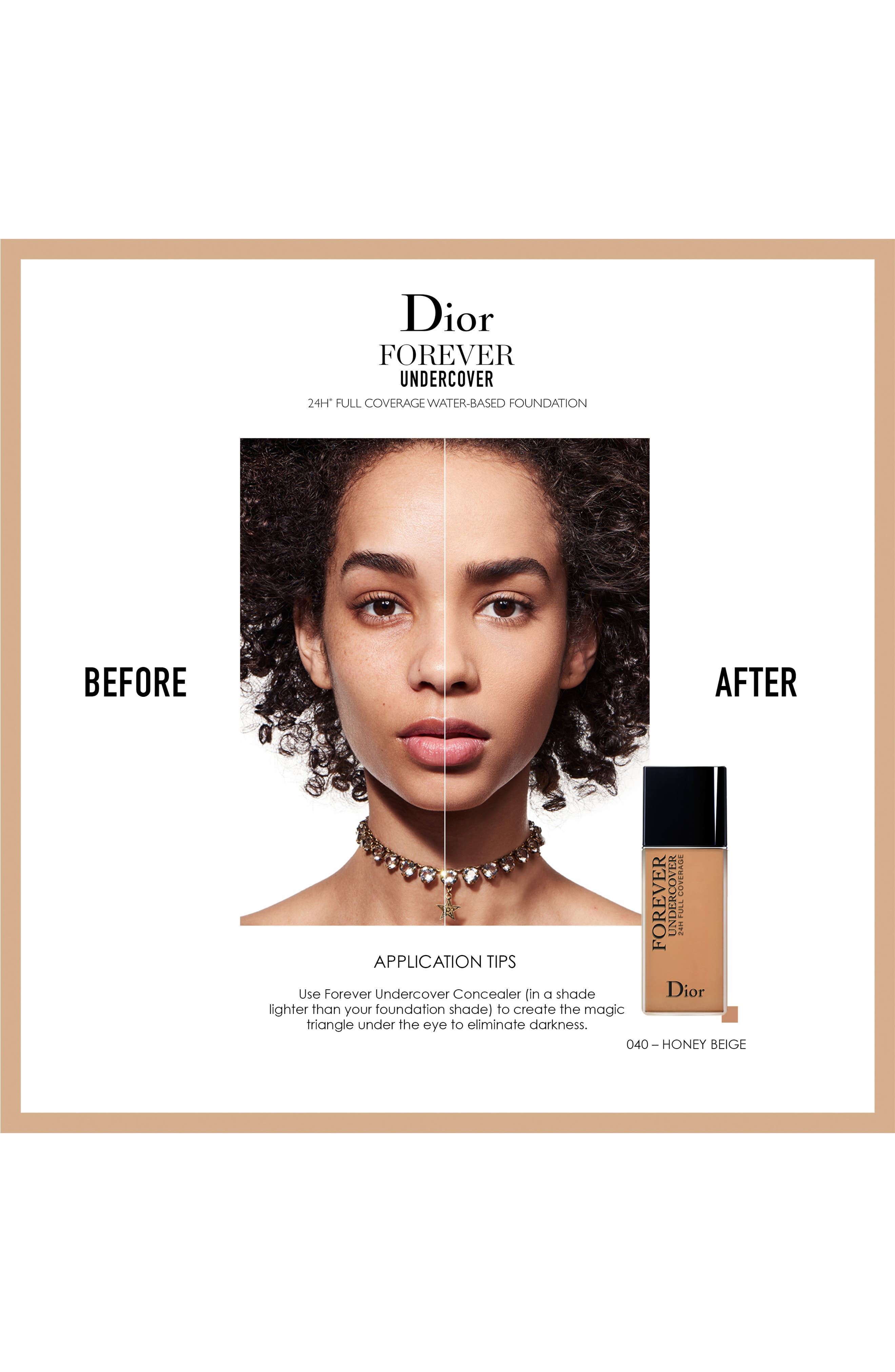 Diorskin Forever Undercover 24-Hour Full Coverage Water-Based Foundation,                             Alternate thumbnail 4, color,                             051 PRALINE