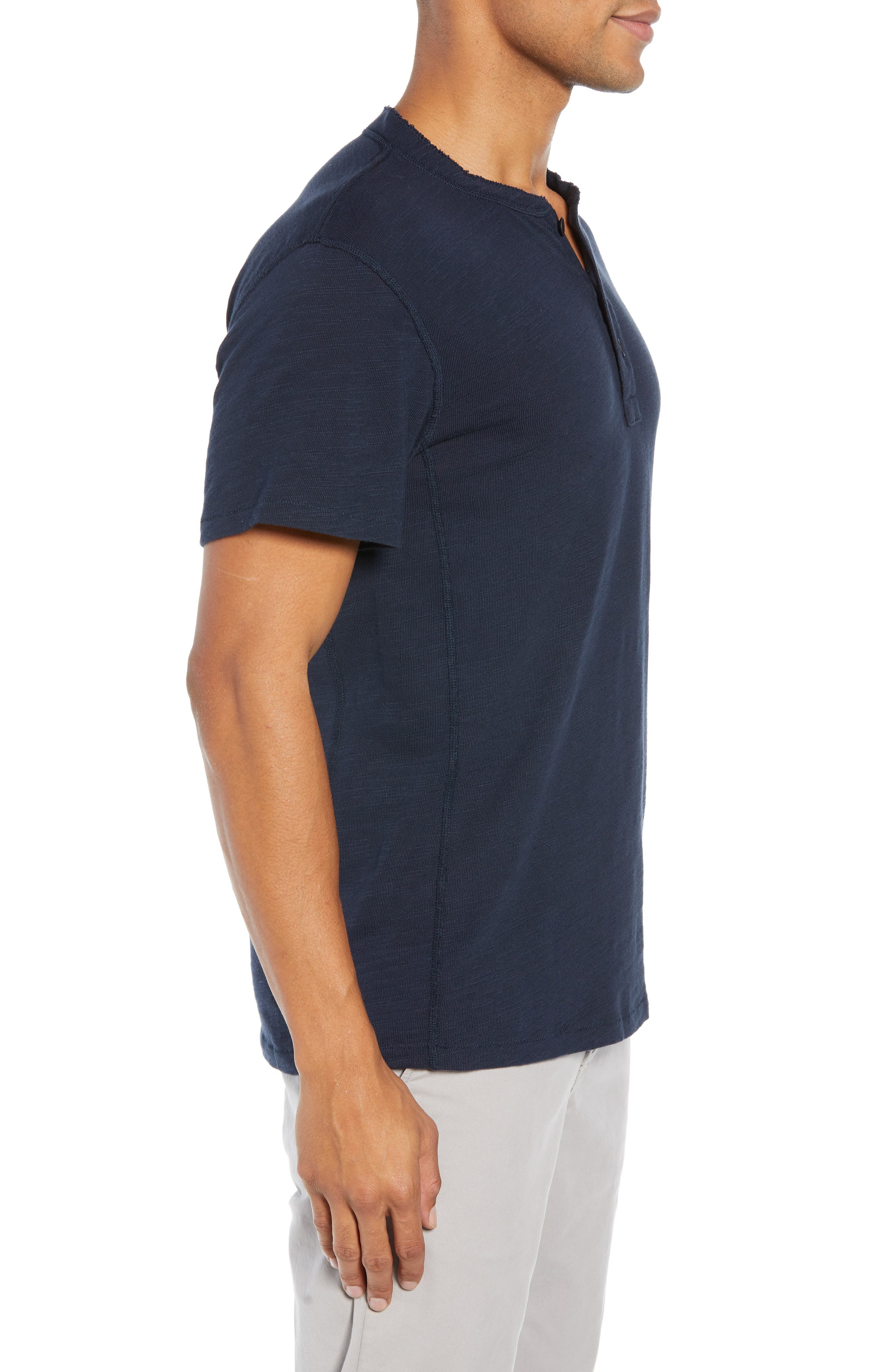 Standard Issue Henley T-Shirt,                             Alternate thumbnail 3, color,                             DEEP NAVY