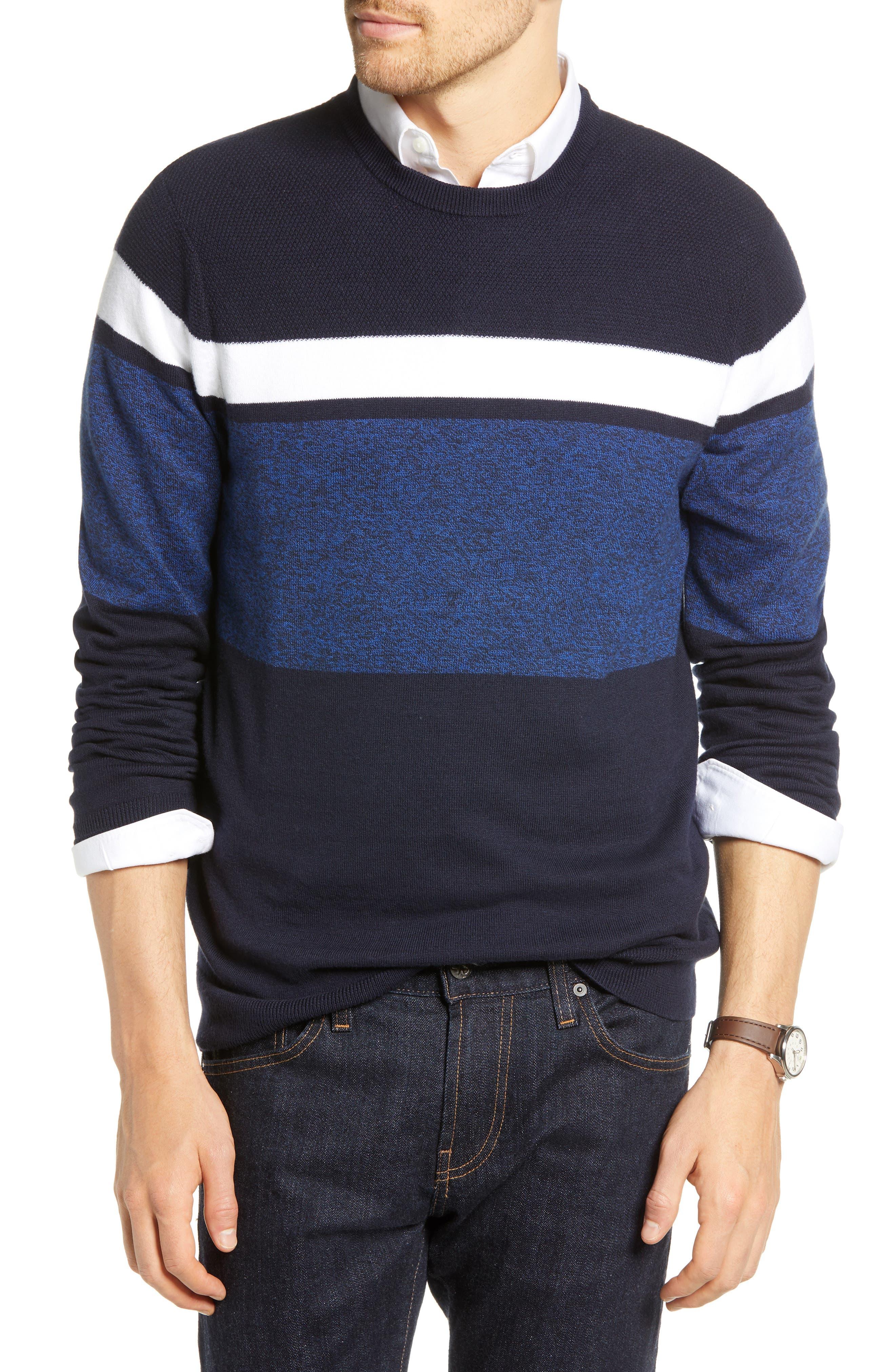 1901 Alpine Stripe Sweater, Blue