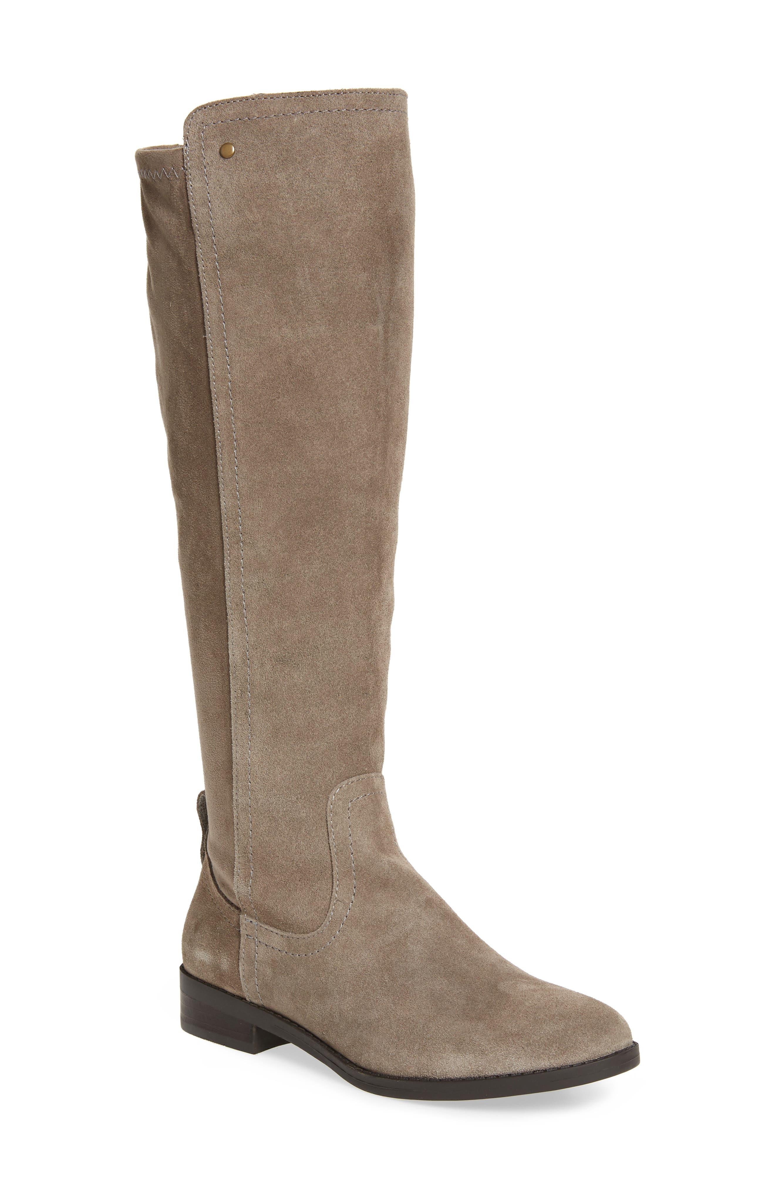 Very Volatile Anchor Knee High Boot- Grey