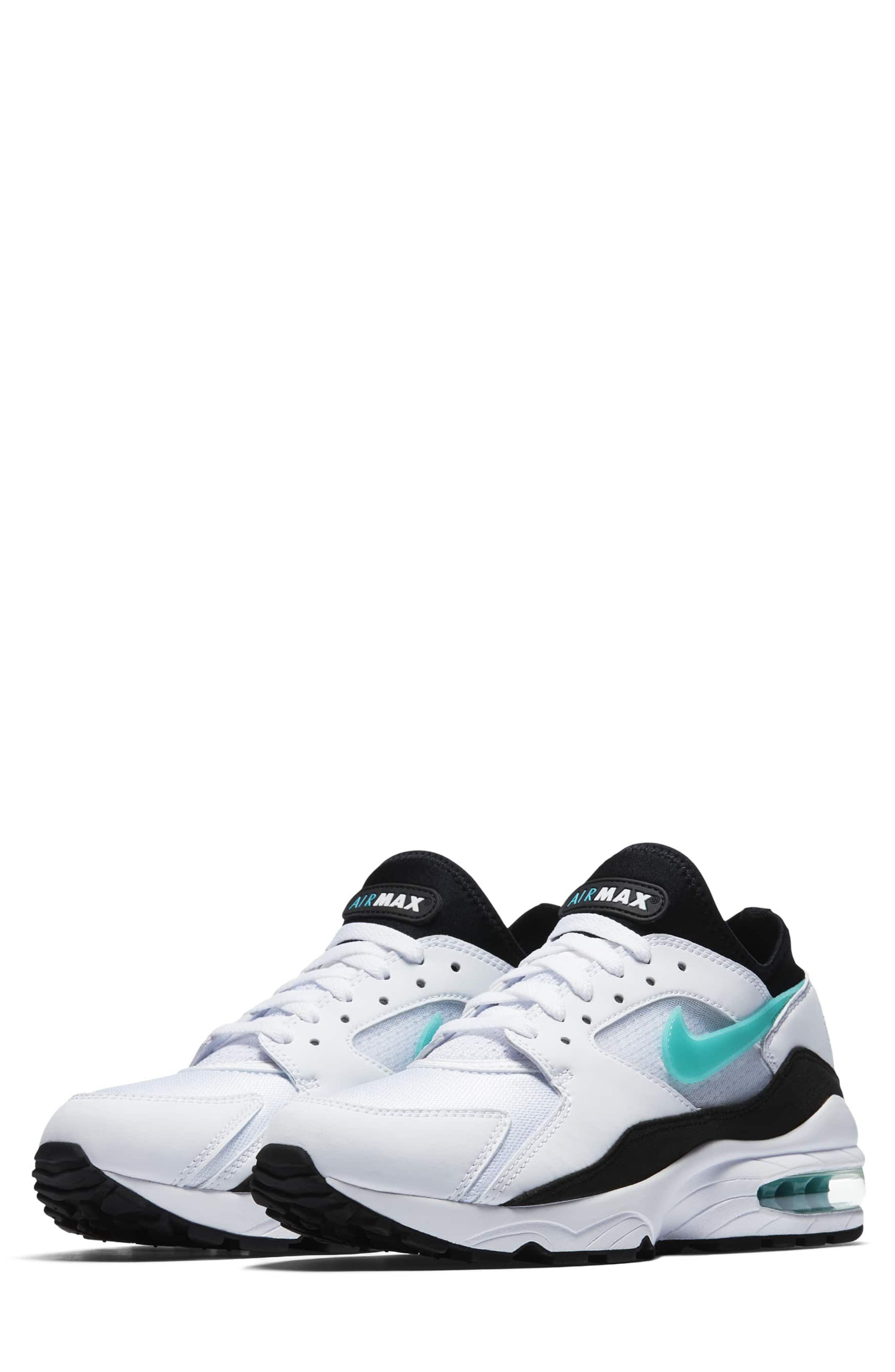 Air Max 93 Sneaker,                         Main,                         color, WHITE/ DUSTY CACTUS