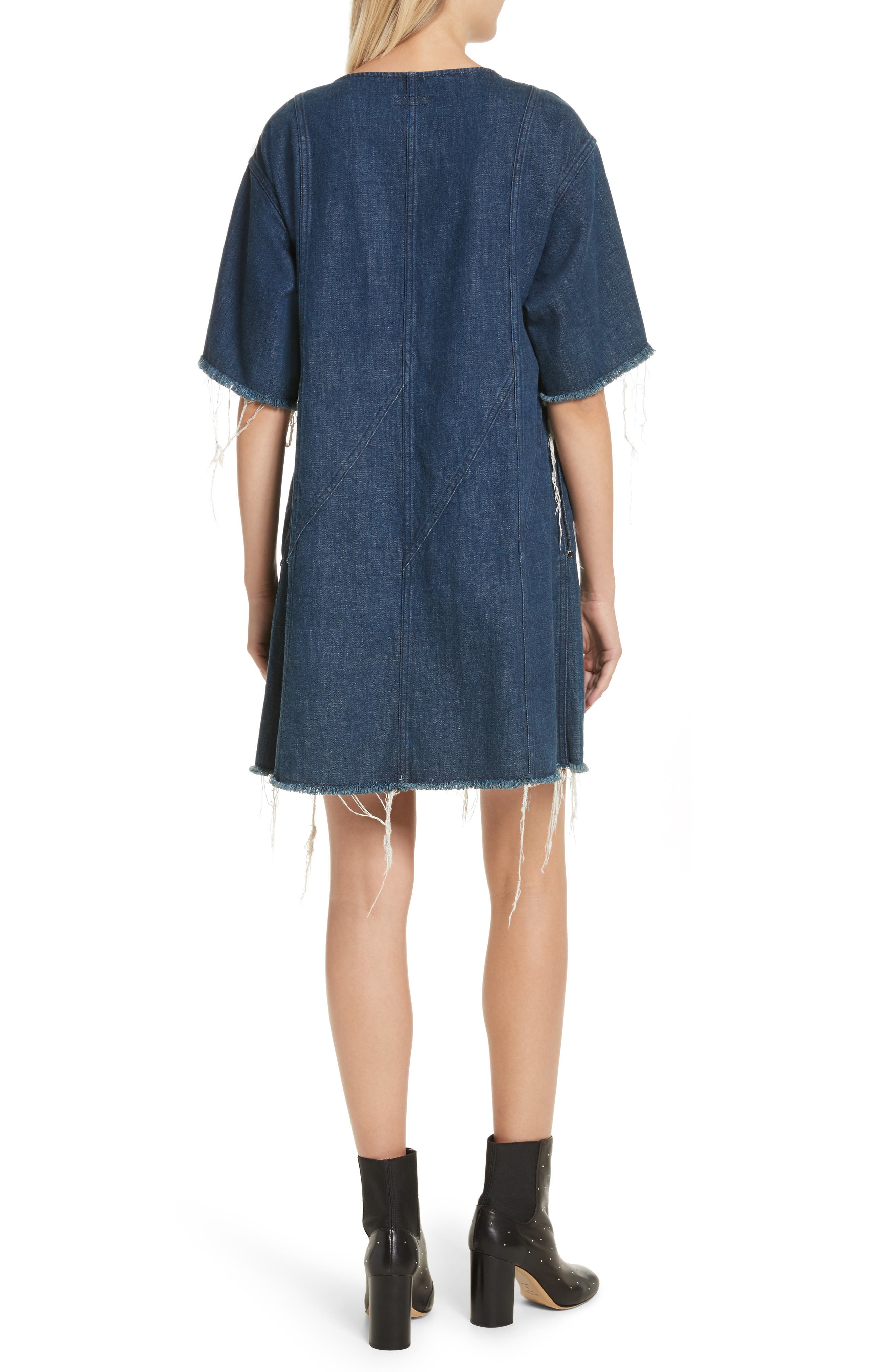 Kelly Denim Minidress,                             Alternate thumbnail 2, color,                             470