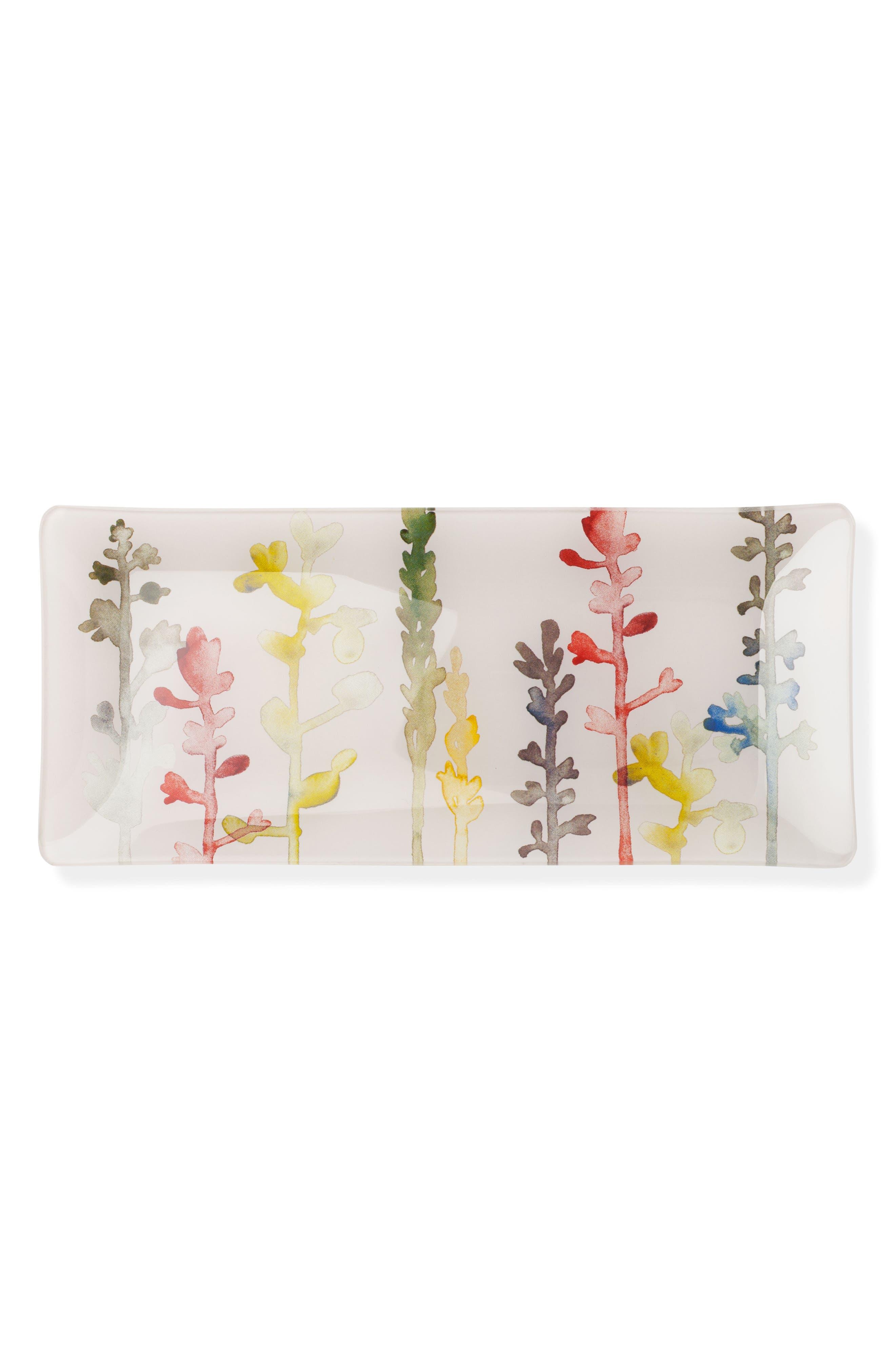 Watercolor Stems Trinket Tray,                         Main,                         color, 650