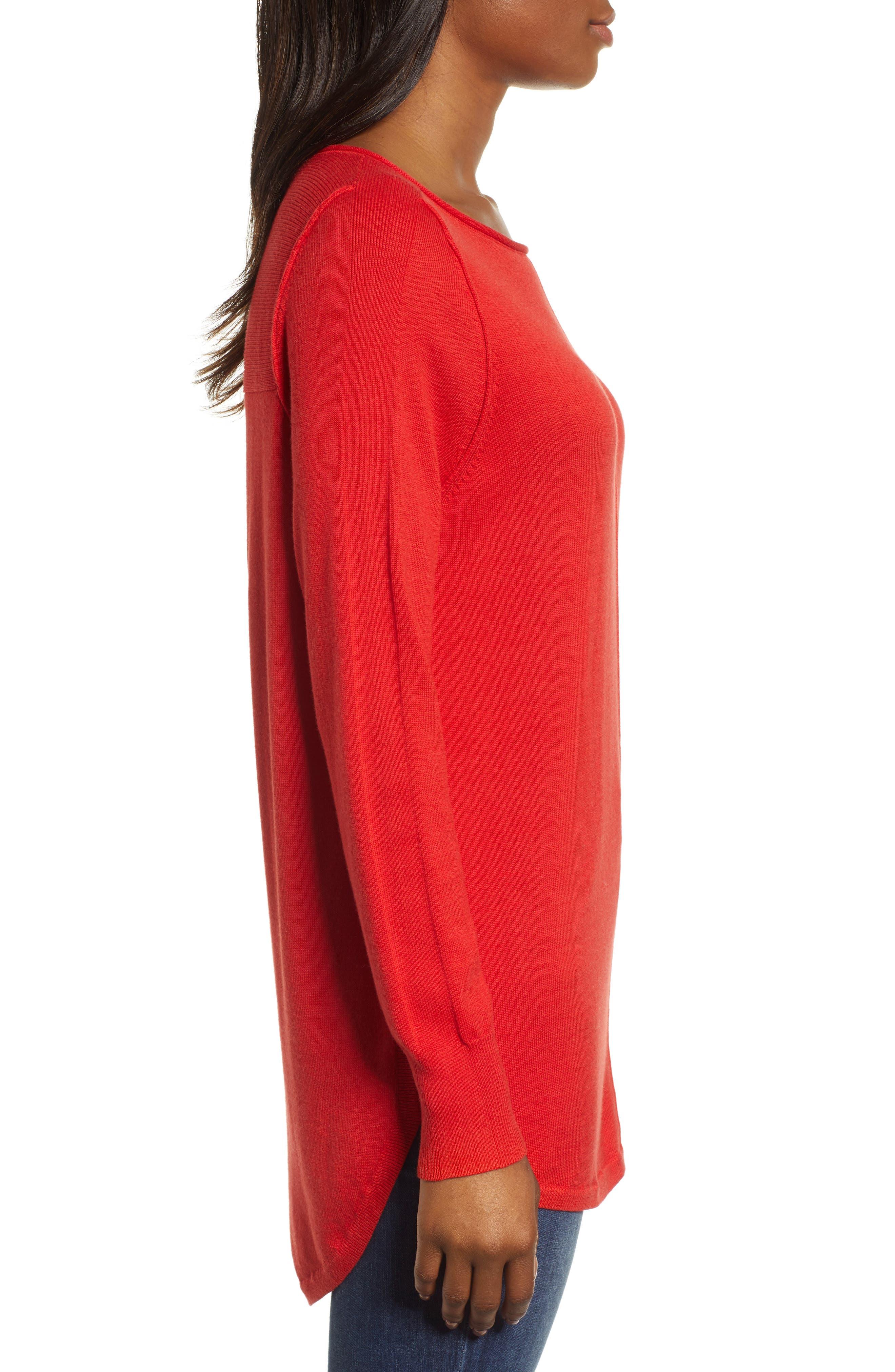 CASLON<SUP>®</SUP>,                             Seam Detail Shirttail Tunic,                             Alternate thumbnail 3, color,                             610