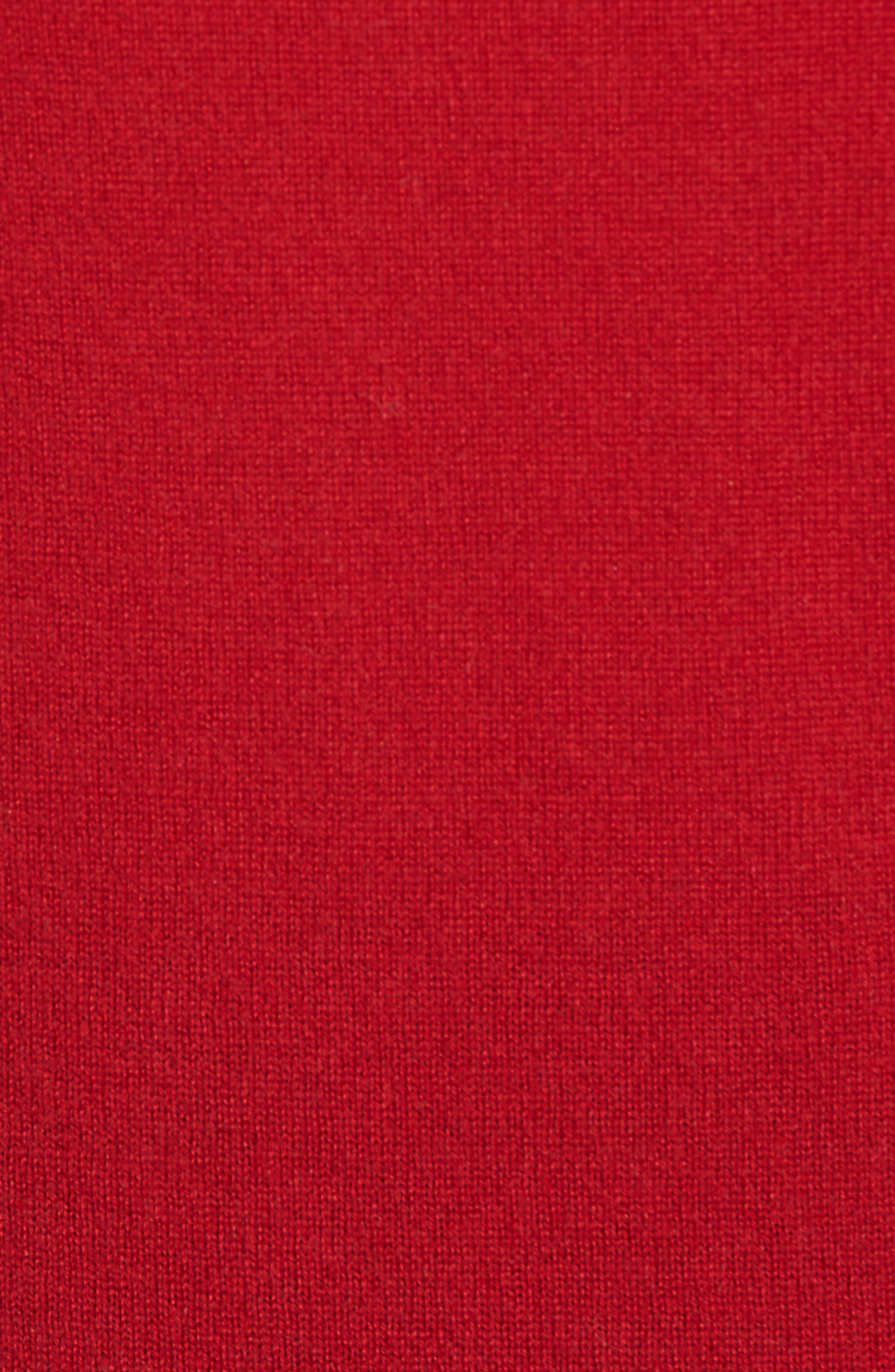 Blouson Sleeve Cashmere Sweater,                             Alternate thumbnail 5, color,                             LIPSTICK