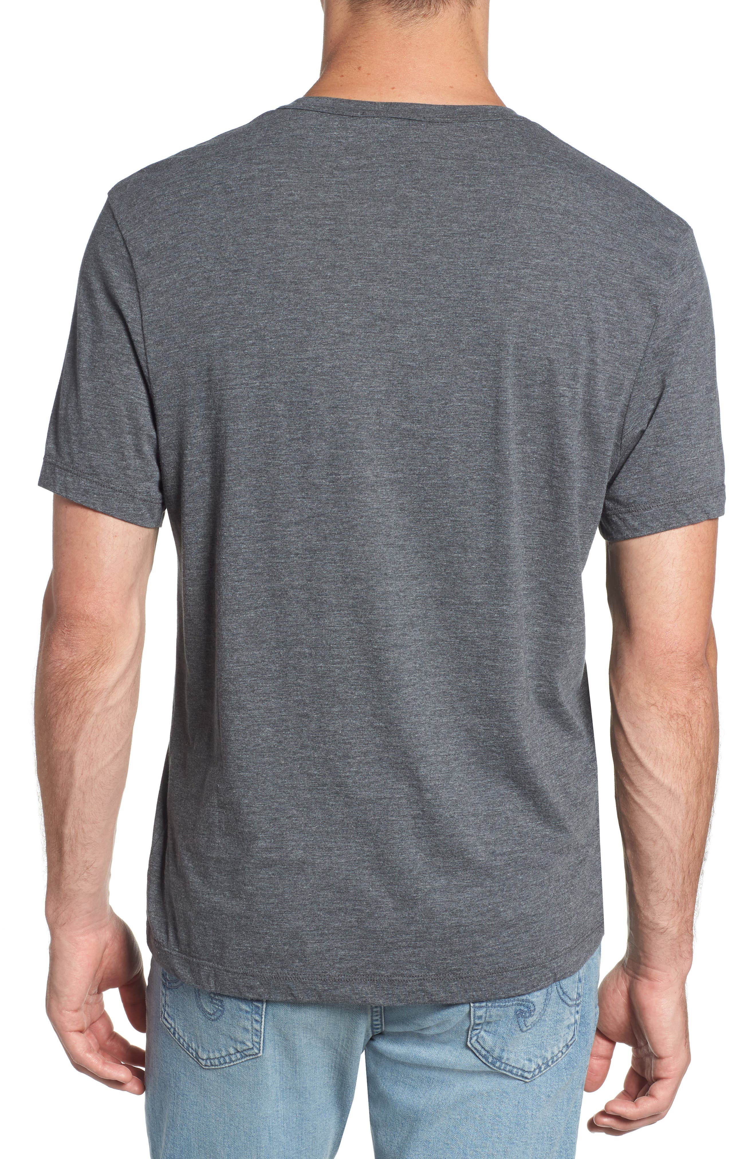 Cotton Blend Short Sleeve Henley,                             Alternate thumbnail 2, color,                             020