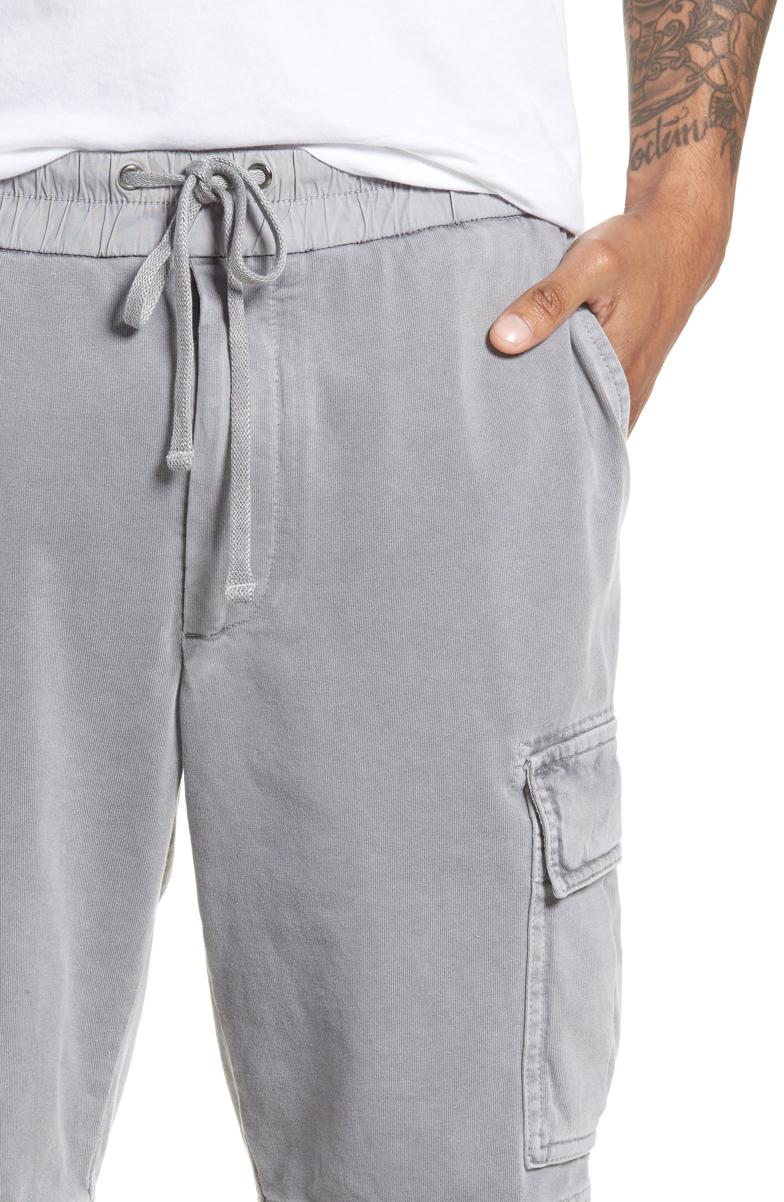 Heavy Jersey Cargo Shorts,                             Alternate thumbnail 4, color,                             BREEZE PIGMENT