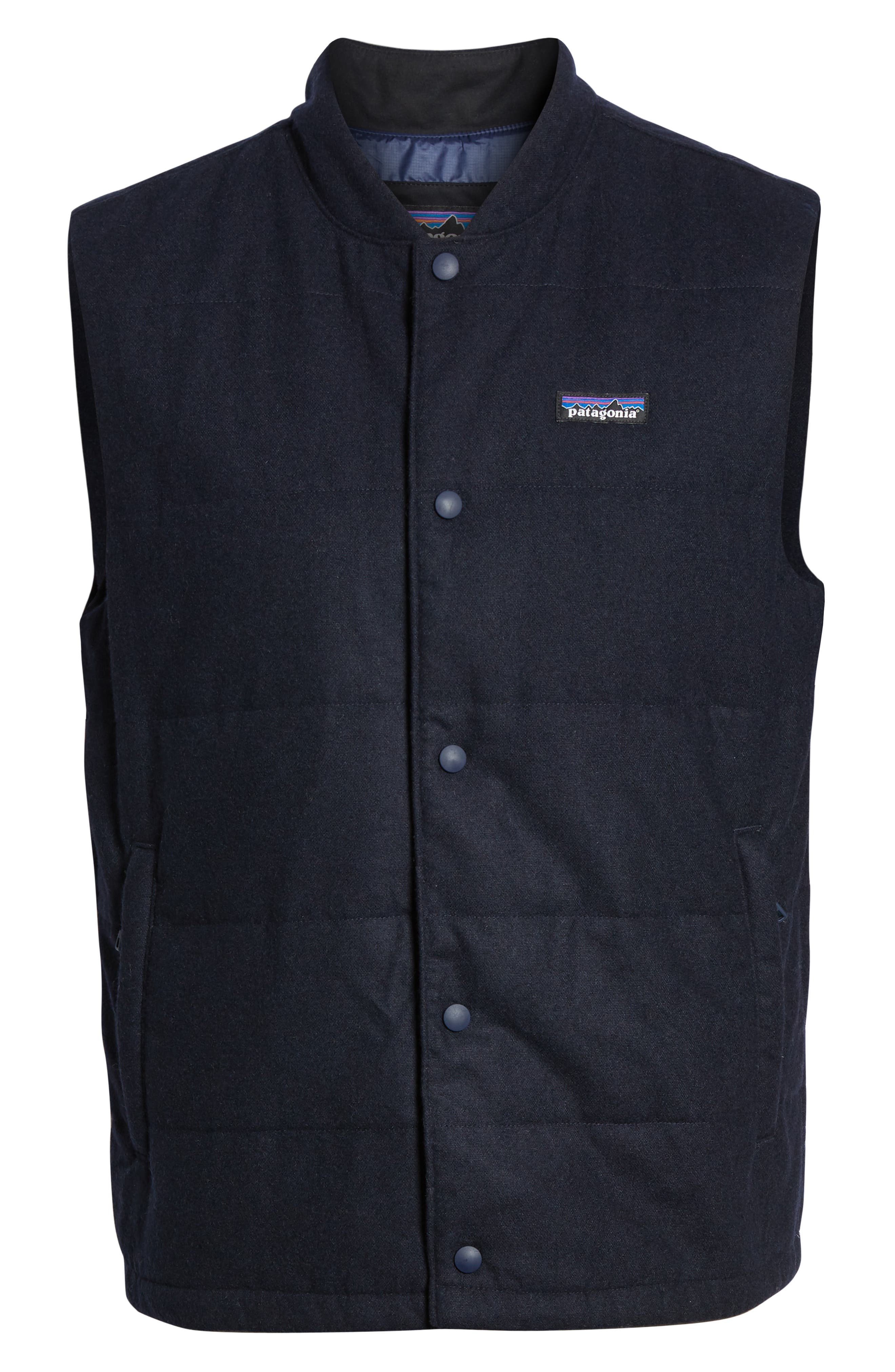 Recycled Woolyester Vest,                             Alternate thumbnail 6, color,                             CLASSIC NAVY