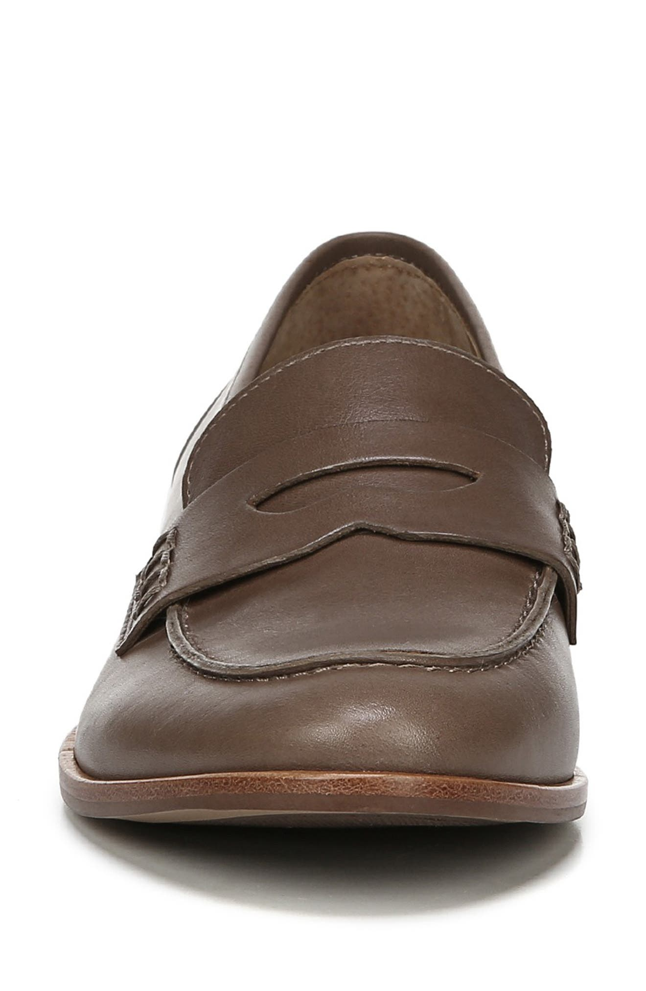 SARTO BY FRANCO SARTO,                             'Jolette' Penny Loafer,                             Alternate thumbnail 4, color,                             DARK PUTTY LEATHER