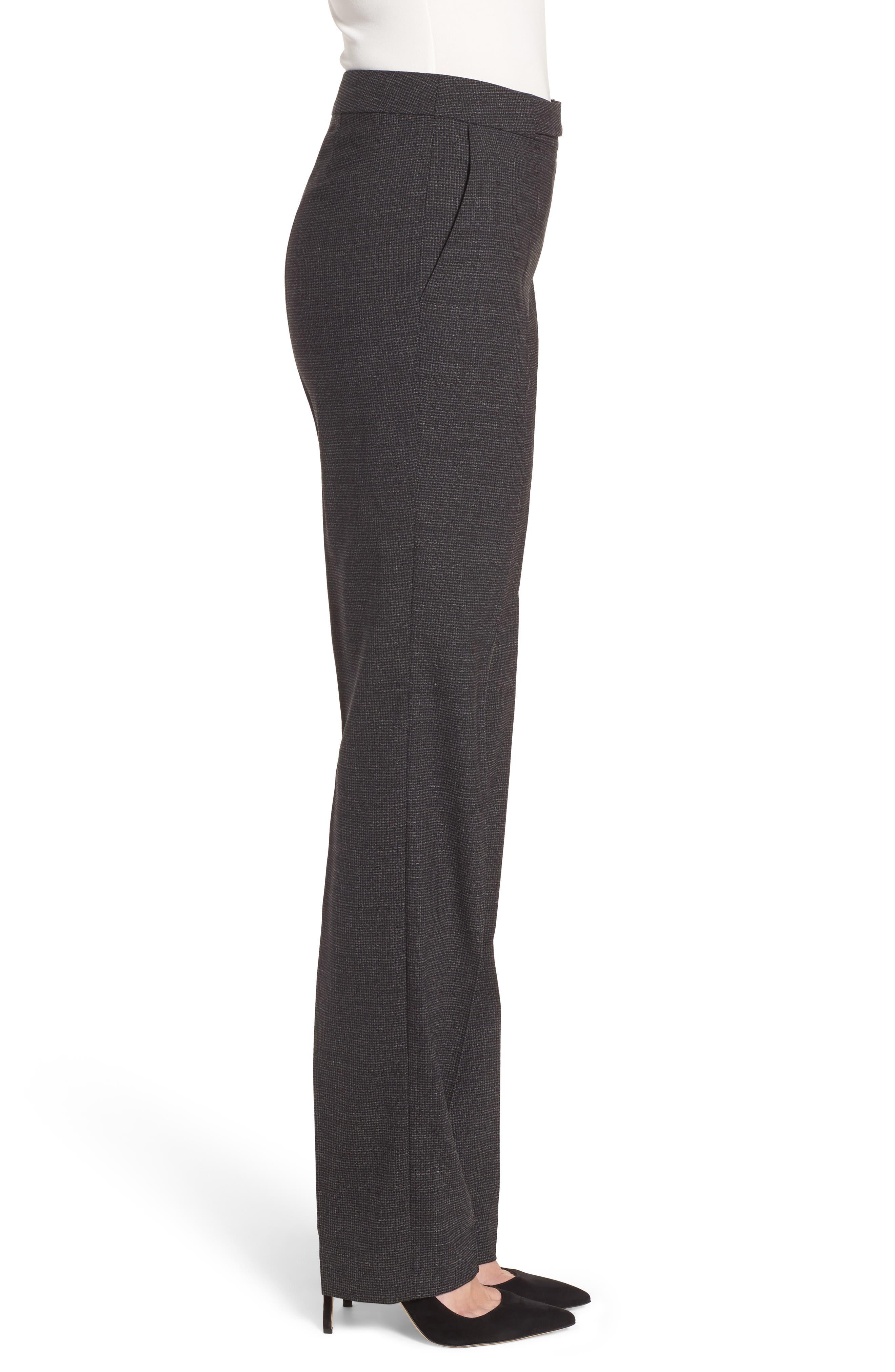 Tafena Check Stretch Wool Pants,                             Alternate thumbnail 3, color,                             006