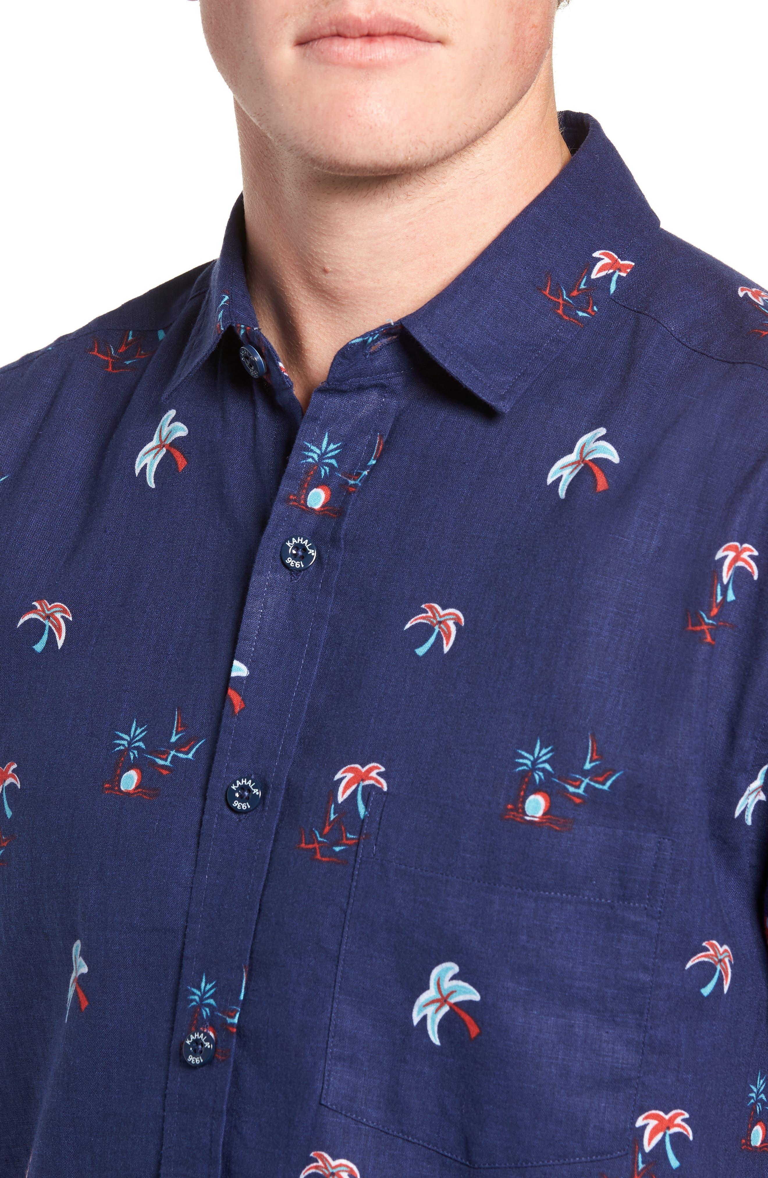 Setting Sun Classic Fit Sport Shirt,                             Alternate thumbnail 2, color,                             NAVY