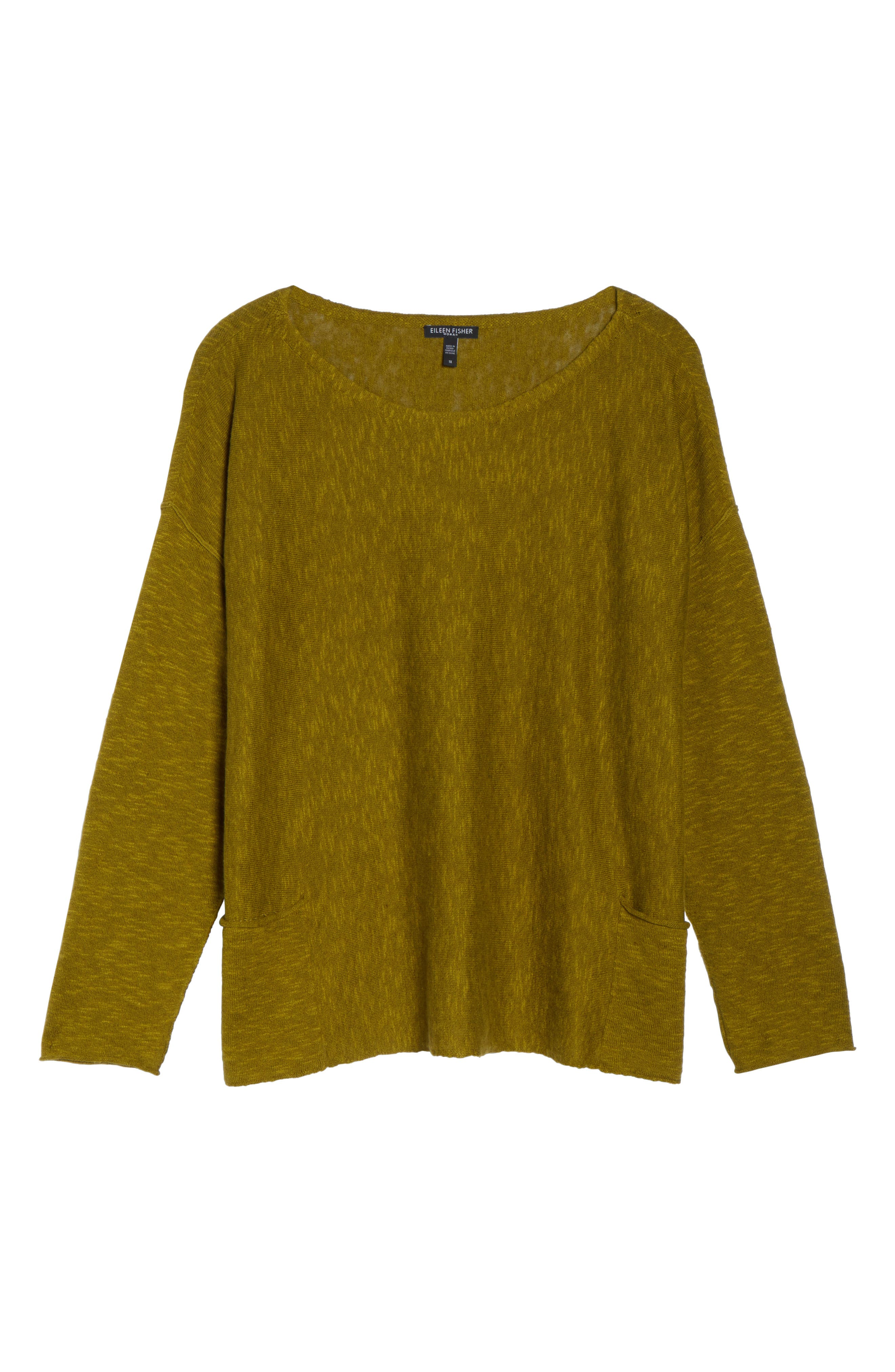 Organic Linen & Cotton Sweater,                             Alternate thumbnail 6, color,                             201