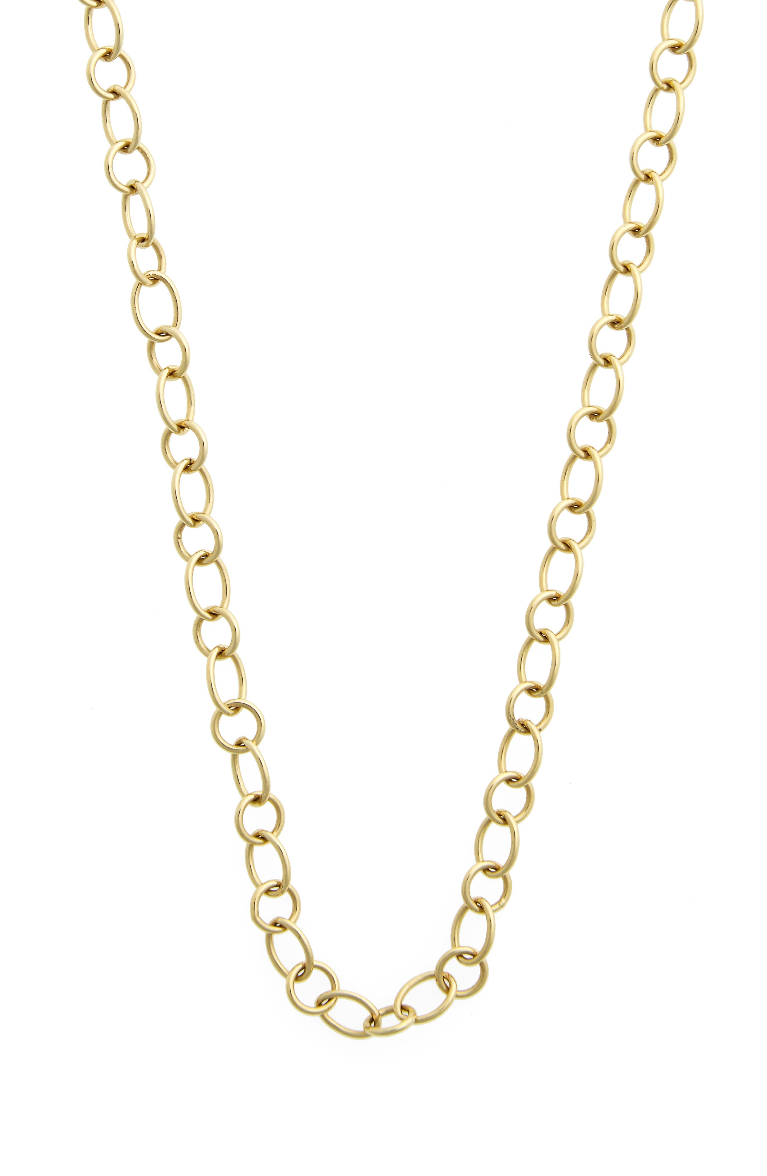 Temple St. Clair 18-Inch Ribbon Chain Necklace,                             Main thumbnail 1, color,                             YELLOW GOLD
