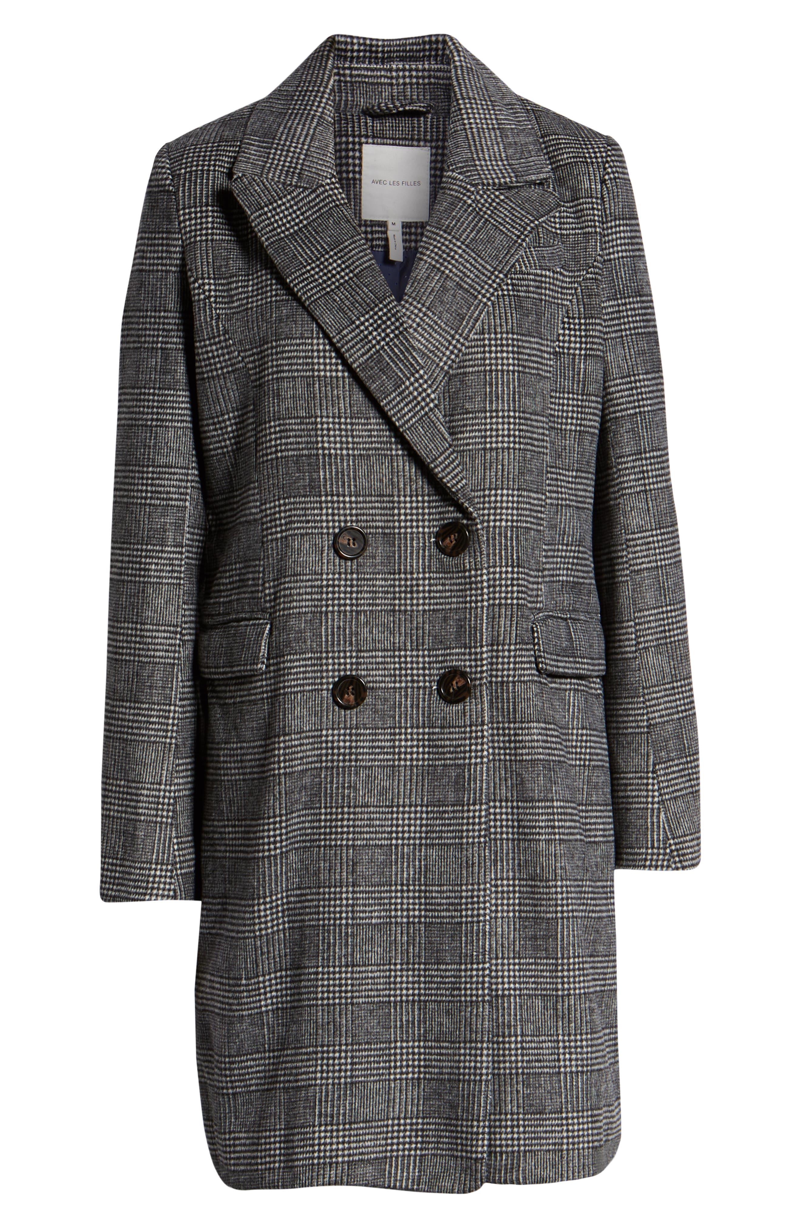 Plaid Coat,                             Alternate thumbnail 4, color,                             005