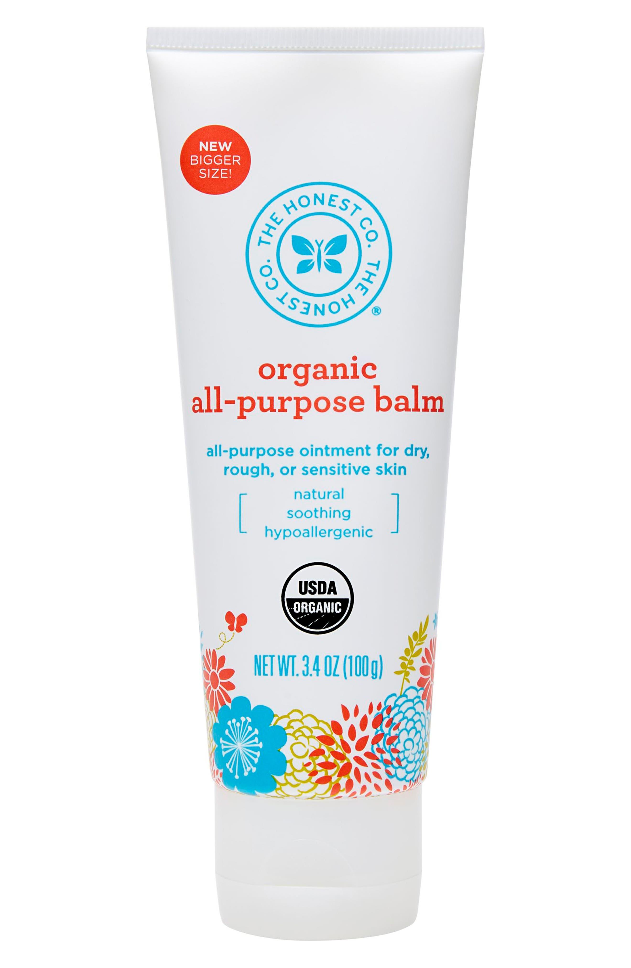 Organic All-Purpose Balm,                             Main thumbnail 1, color,                             000