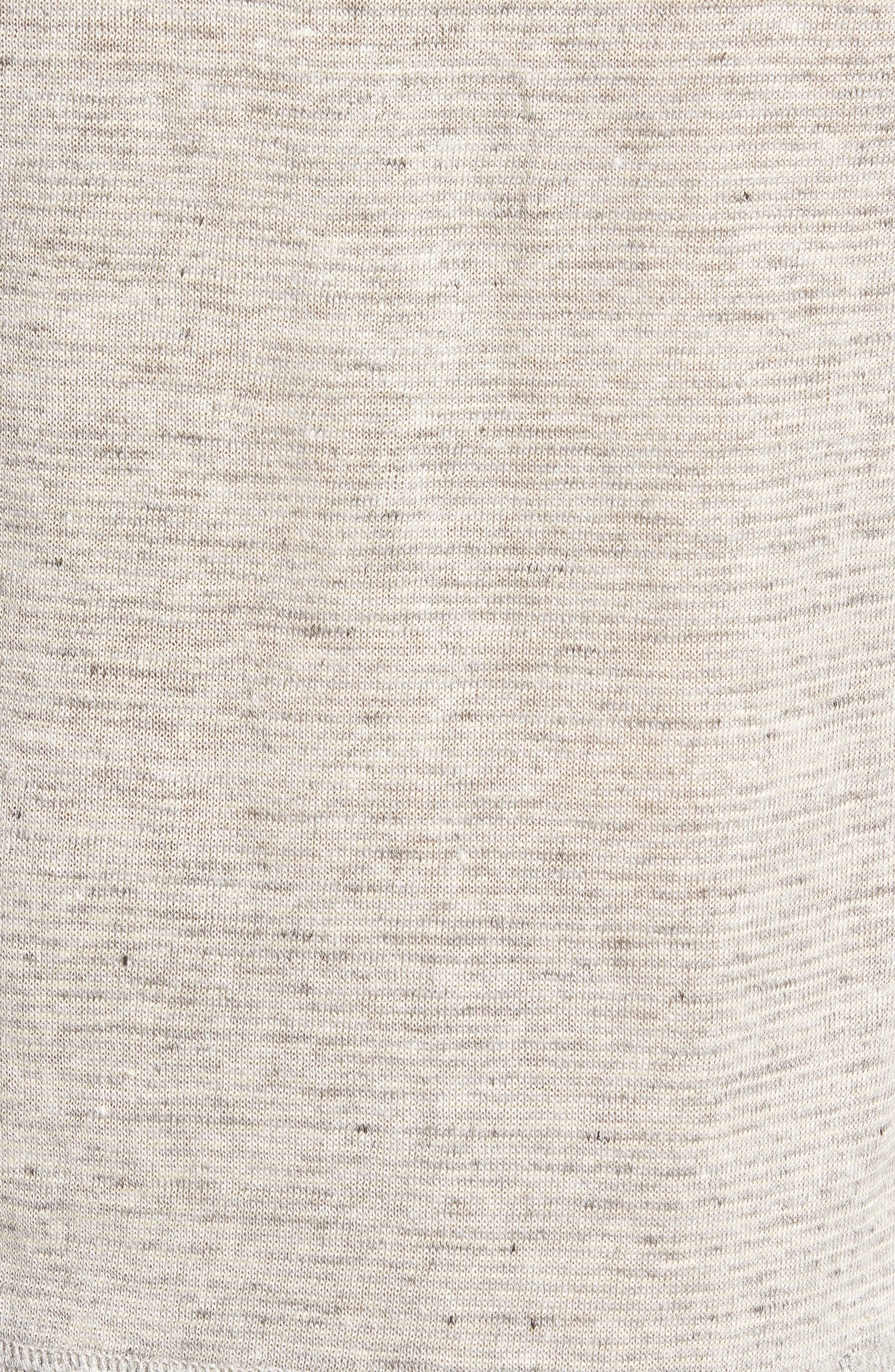 Linen Henley T-Shirt,                             Alternate thumbnail 5, color,                             022