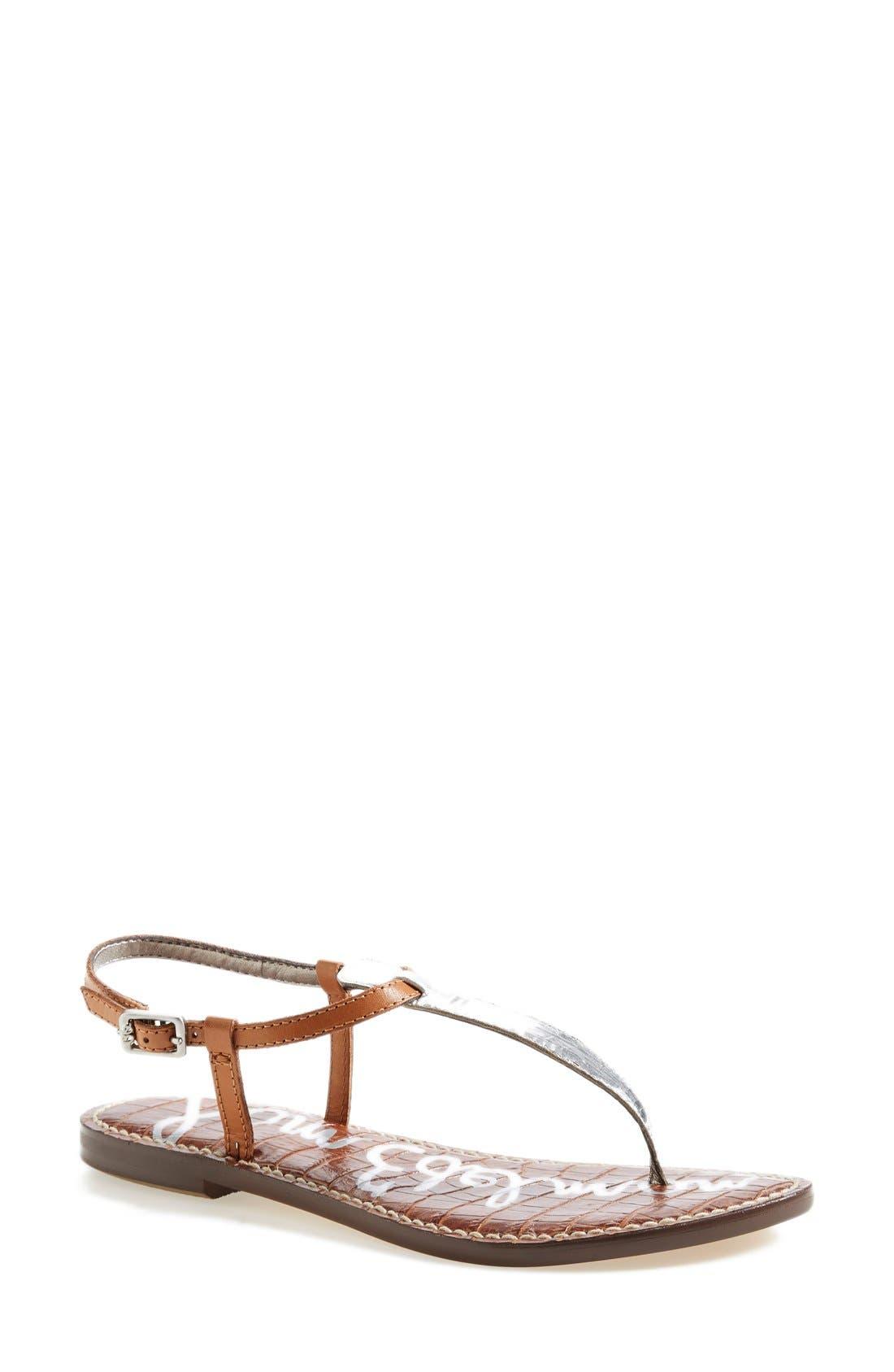 'Gigi' Leather Sandal,                             Main thumbnail 1, color,                             045