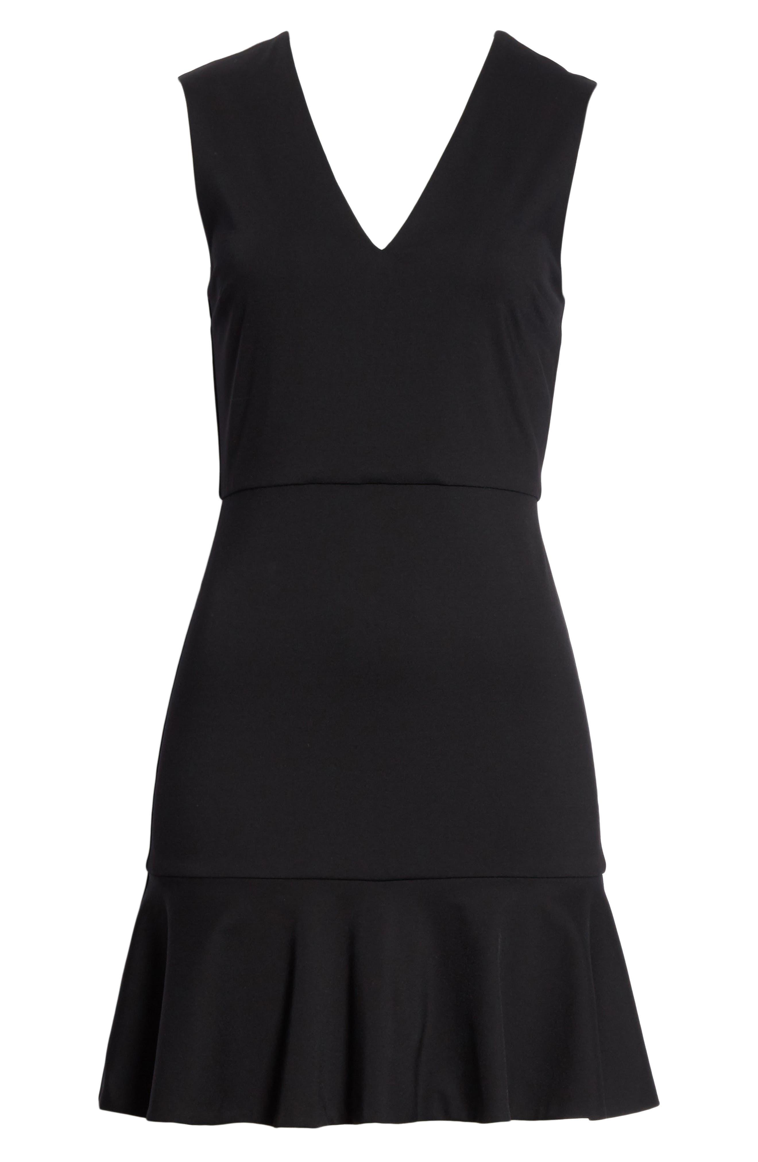 Onella V-Neck Dress,                             Alternate thumbnail 6, color,                             001