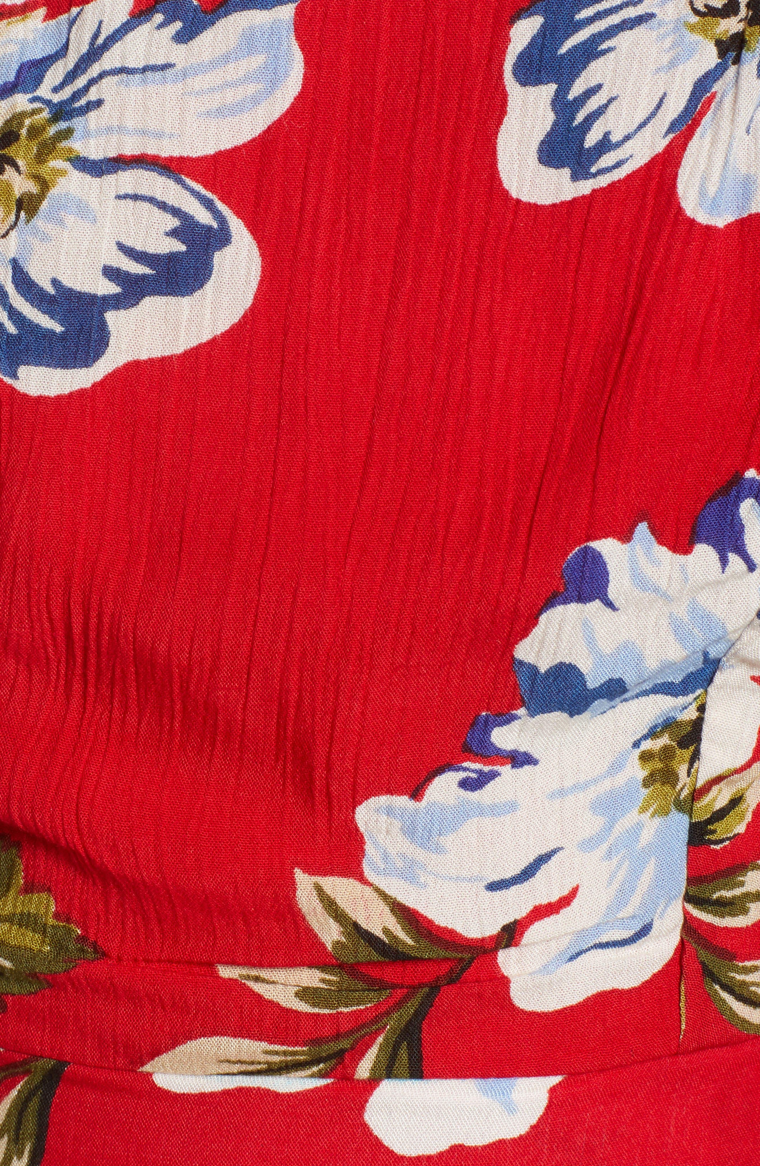 Blue Moon Floral Off the Shoulder Crop Top,                             Alternate thumbnail 6, color,                             600